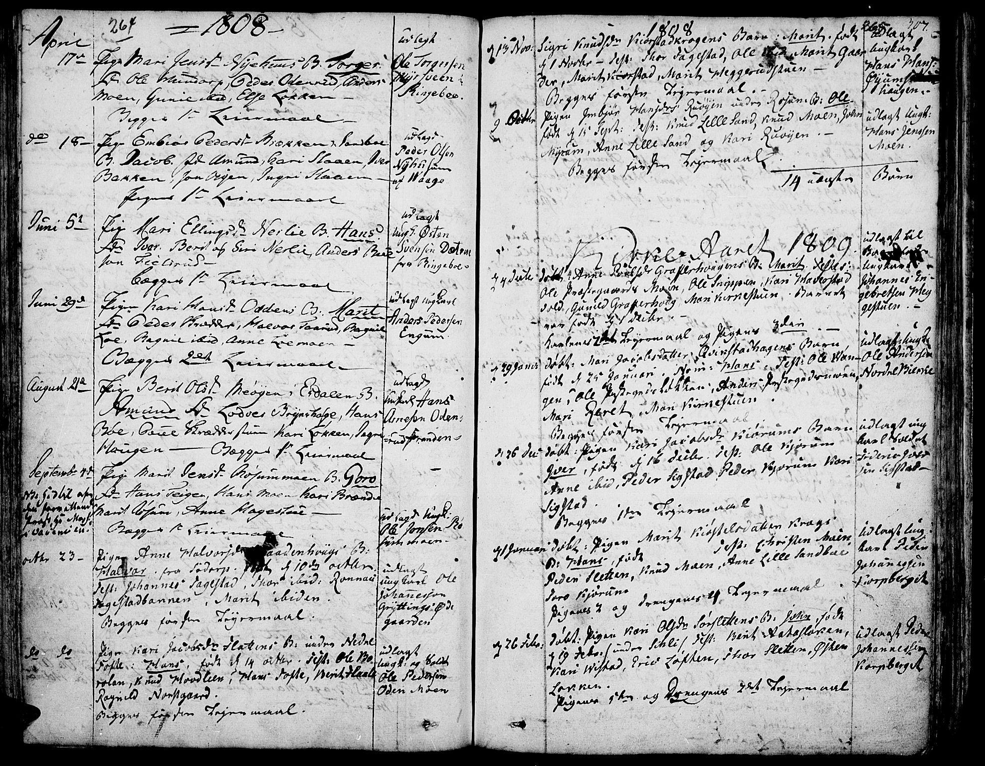 SAH, Fron prestekontor, H/Ha/Haa/L0001: Ministerialbok nr. 1, 1799-1816, s. 264-265