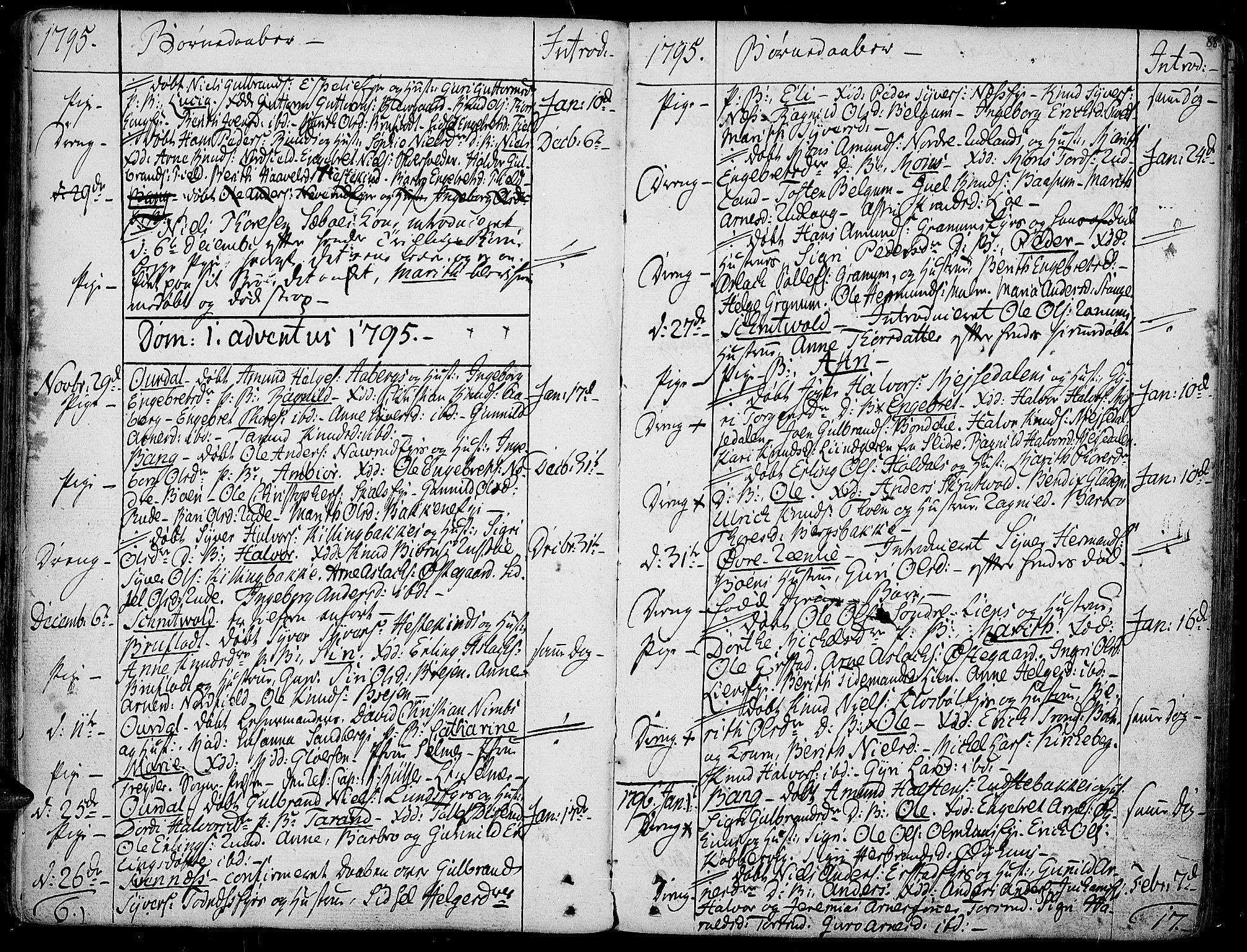 SAH, Aurdal prestekontor, Ministerialbok nr. 6, 1781-1804, s. 88