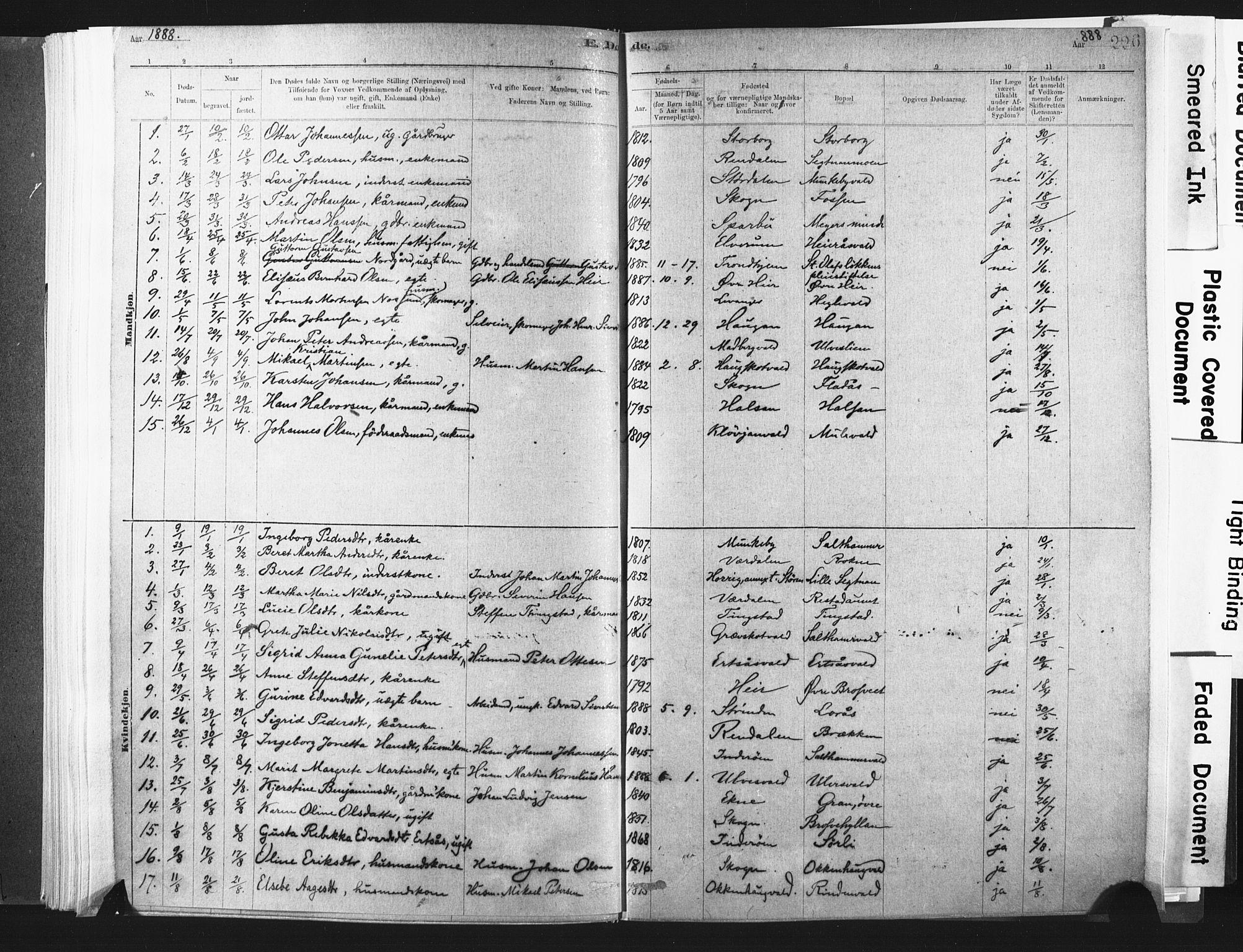SAT, Ministerialprotokoller, klokkerbøker og fødselsregistre - Nord-Trøndelag, 721/L0207: Ministerialbok nr. 721A02, 1880-1911, s. 226