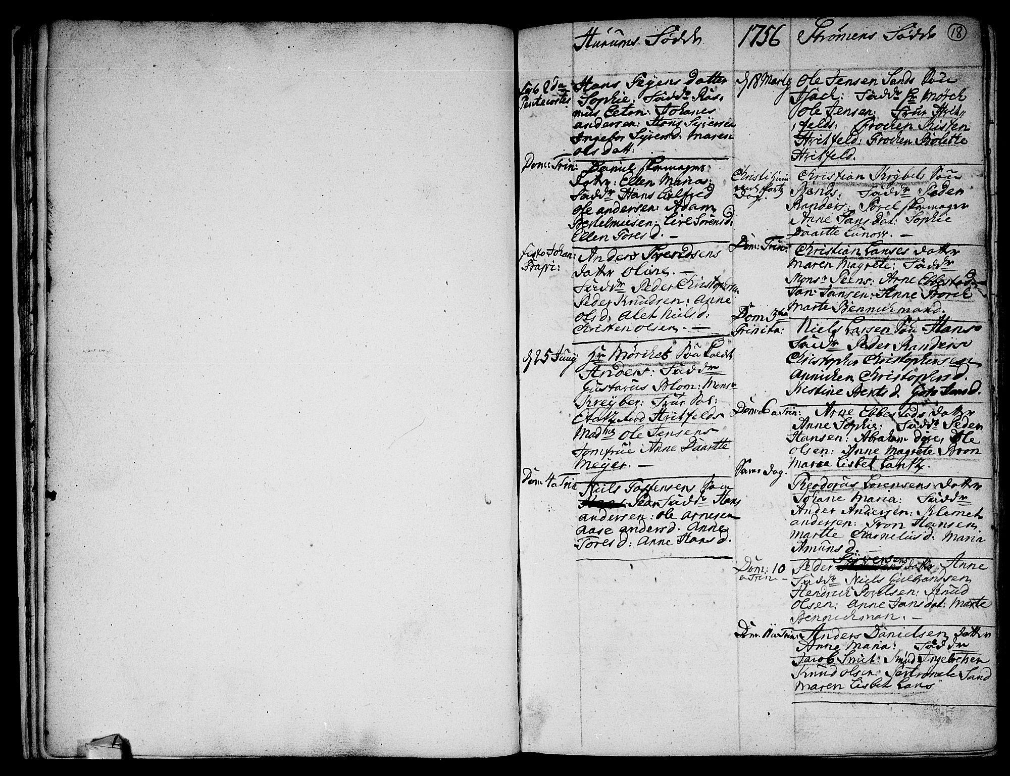 SAKO, Hurum kirkebøker, F/Fa/L0006: Ministerialbok nr. 6, 1756-1770, s. 18