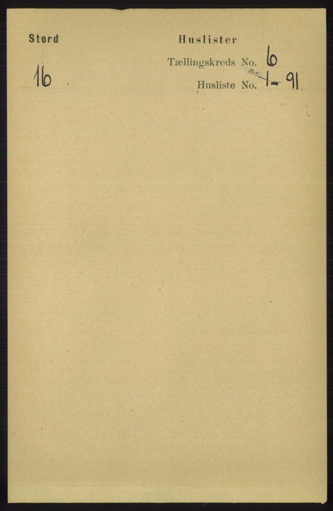 RA, Folketelling 1891 for 1221 Stord herred, 1891, s. 2070