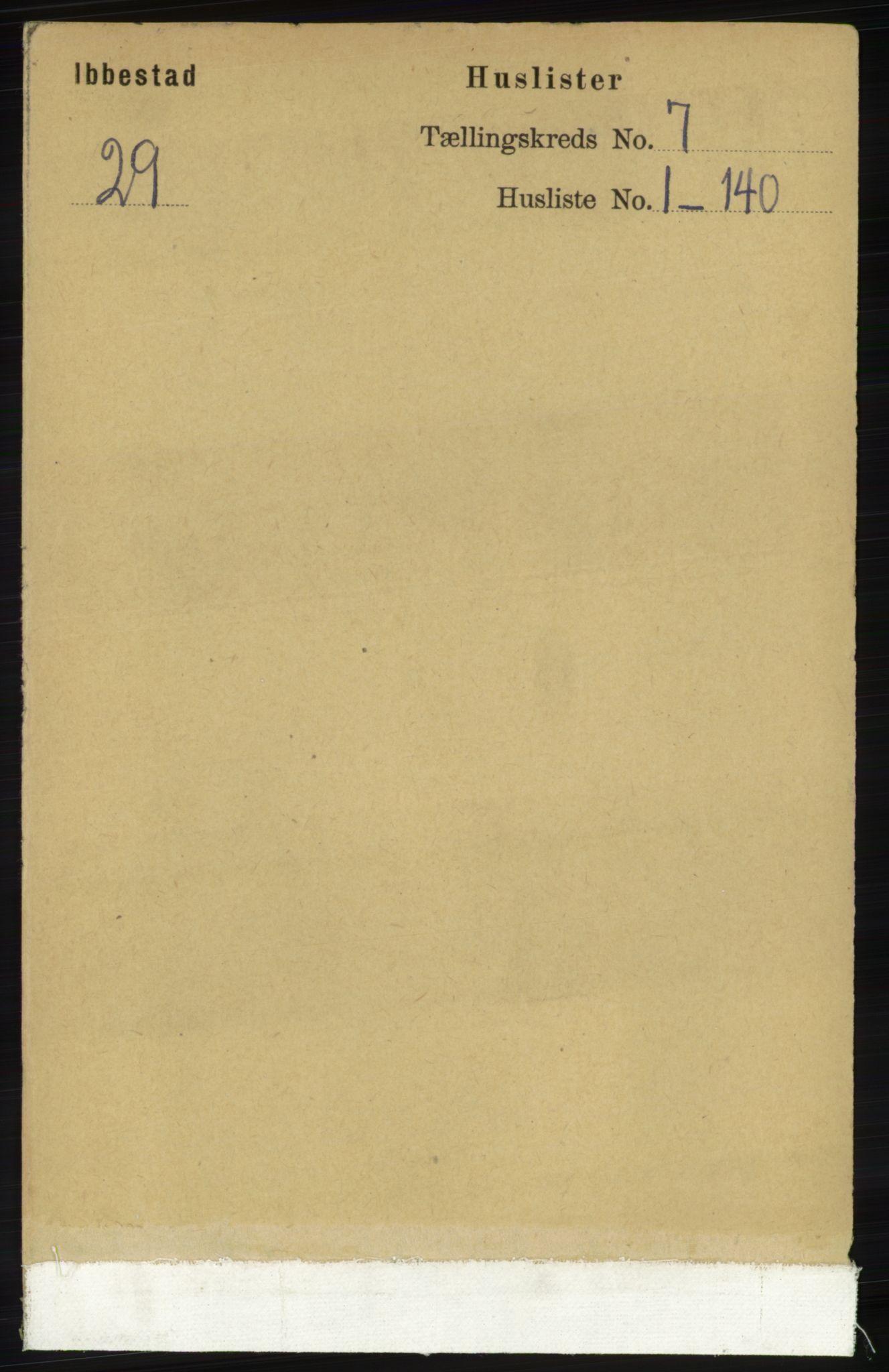 RA, Folketelling 1891 for 1917 Ibestad herred, 1891, s. 4047