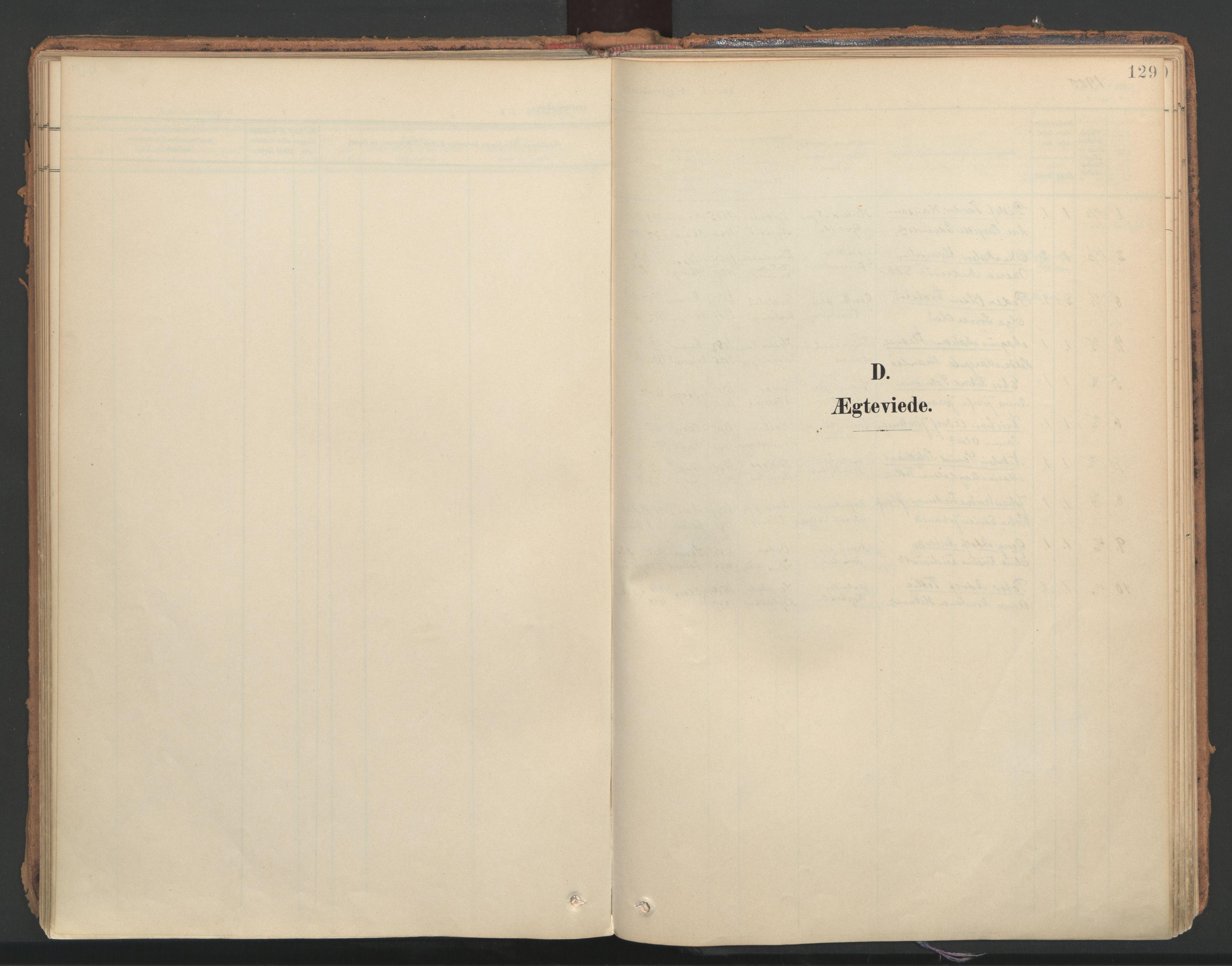 SAT, Ministerialprotokoller, klokkerbøker og fødselsregistre - Nord-Trøndelag, 766/L0564: Ministerialbok nr. 767A02, 1900-1932, s. 129