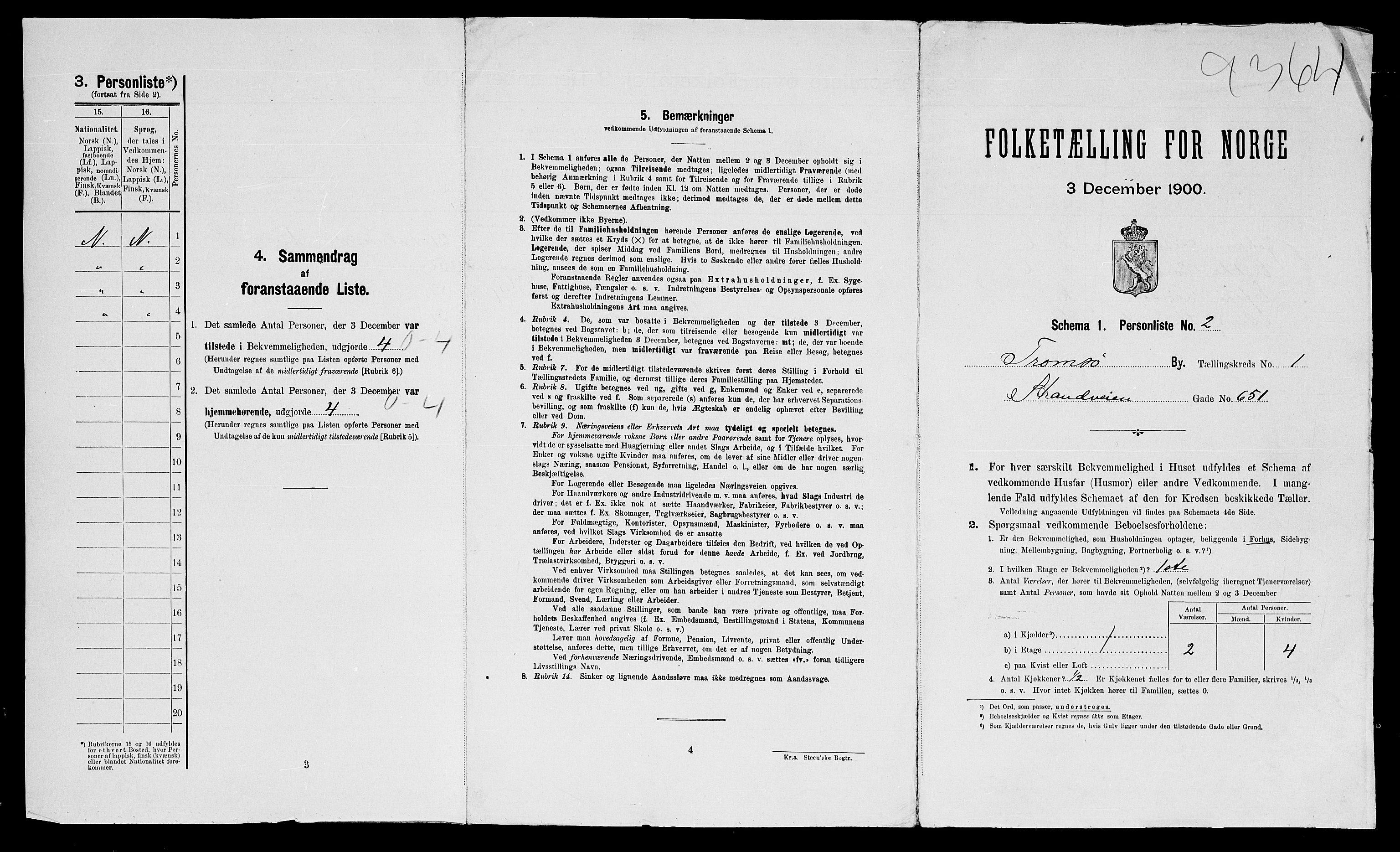 SATØ, Folketelling 1900 for 1902 Tromsø kjøpstad, 1900, s. 46