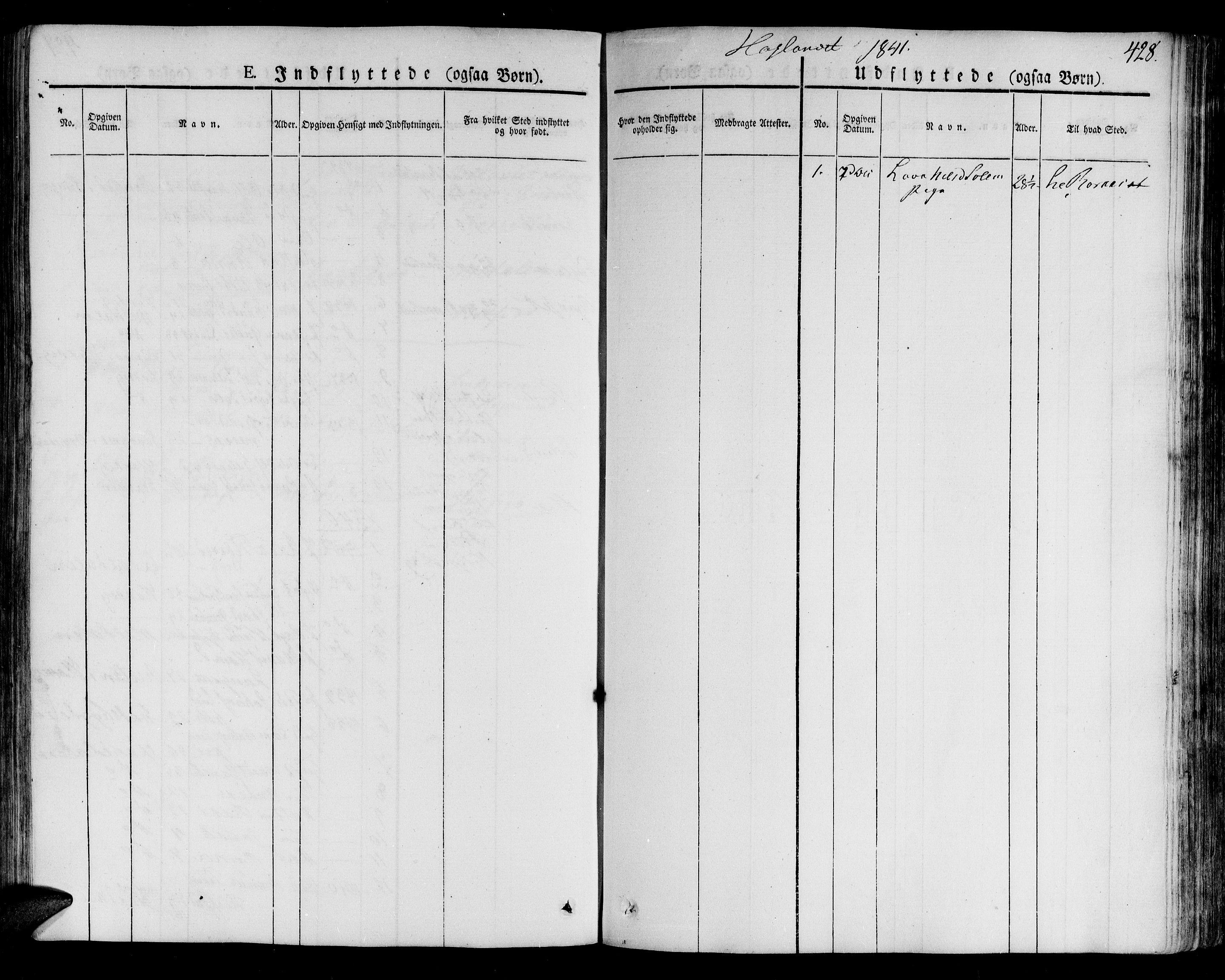 SAT, Ministerialprotokoller, klokkerbøker og fødselsregistre - Sør-Trøndelag, 691/L1073: Ministerialbok nr. 691A05 /4, 1826-1841, s. 428