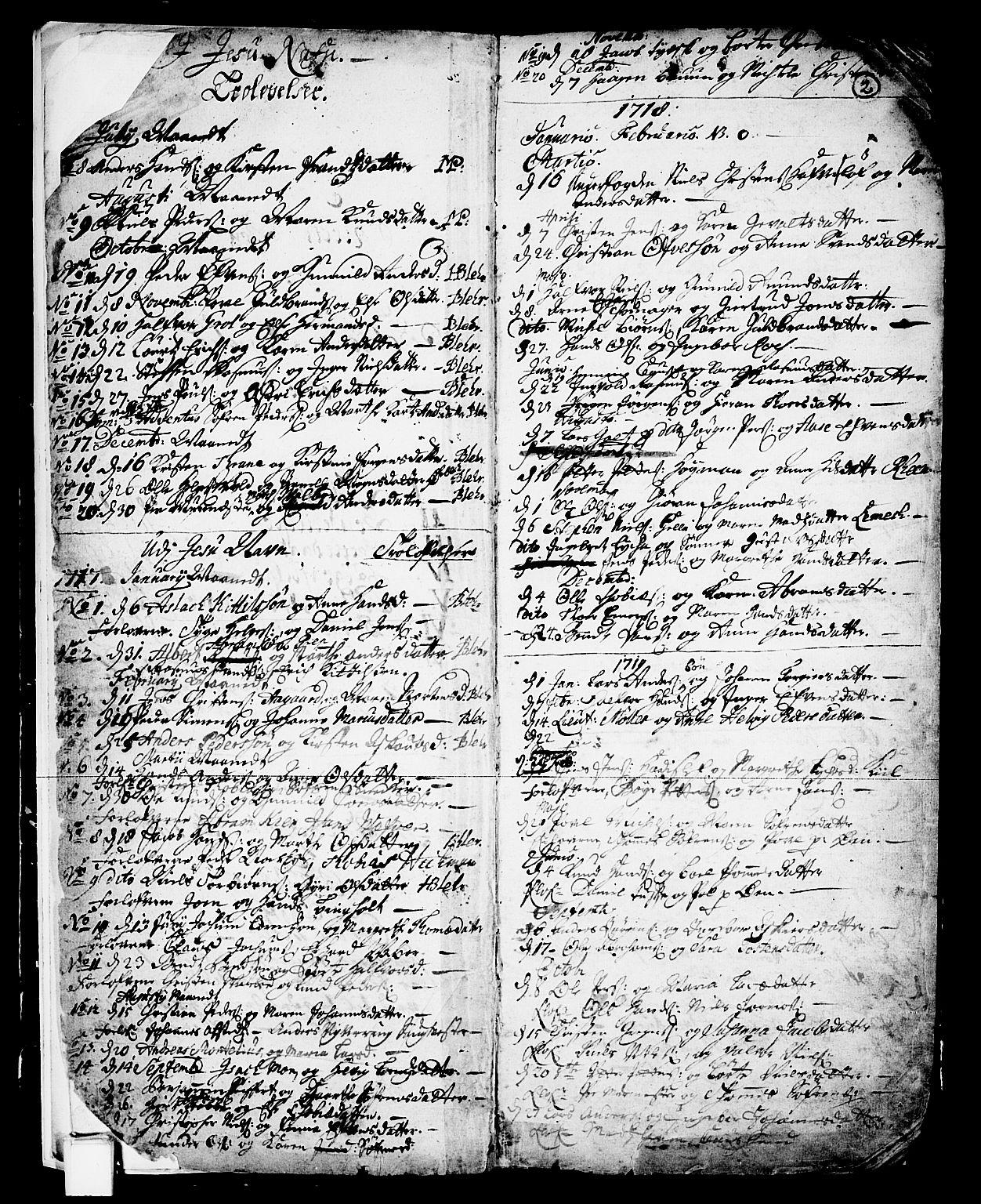 SAKO, Skien kirkebøker, F/Fa/L0002: Ministerialbok nr. 2, 1716-1757, s. 2
