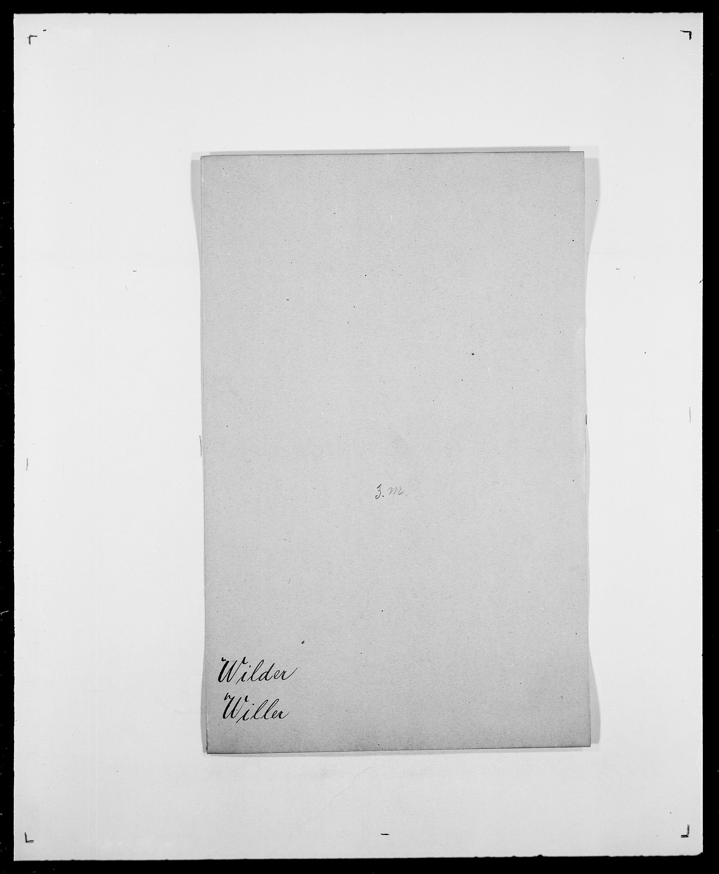 SAO, Delgobe, Charles Antoine - samling, D/Da/L0042: Vilain - Wulf, Wulff, se også Wolf, s. 22