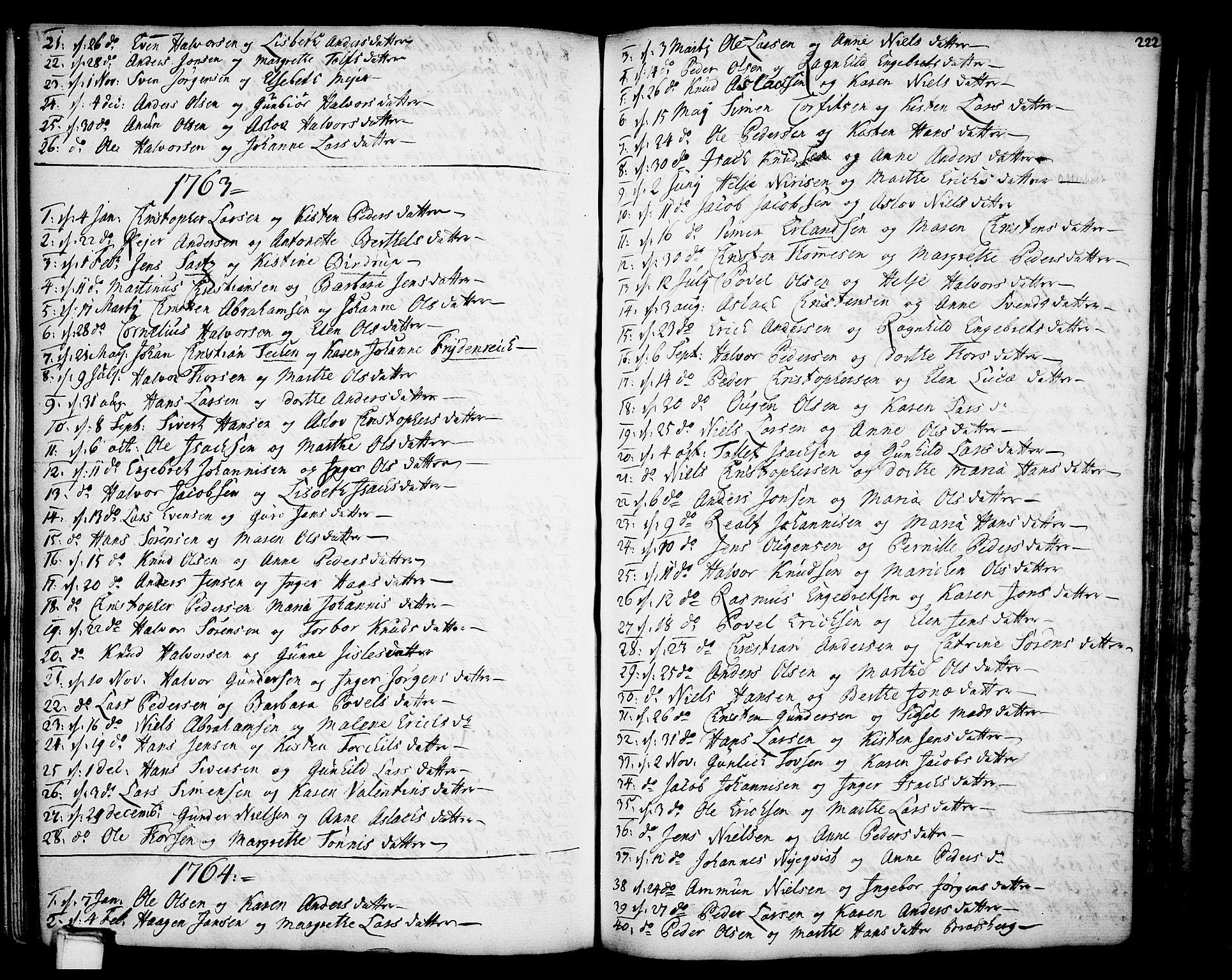 SAKO, Gjerpen kirkebøker, F/Fa/L0002: Ministerialbok nr. 2, 1747-1795, s. 222