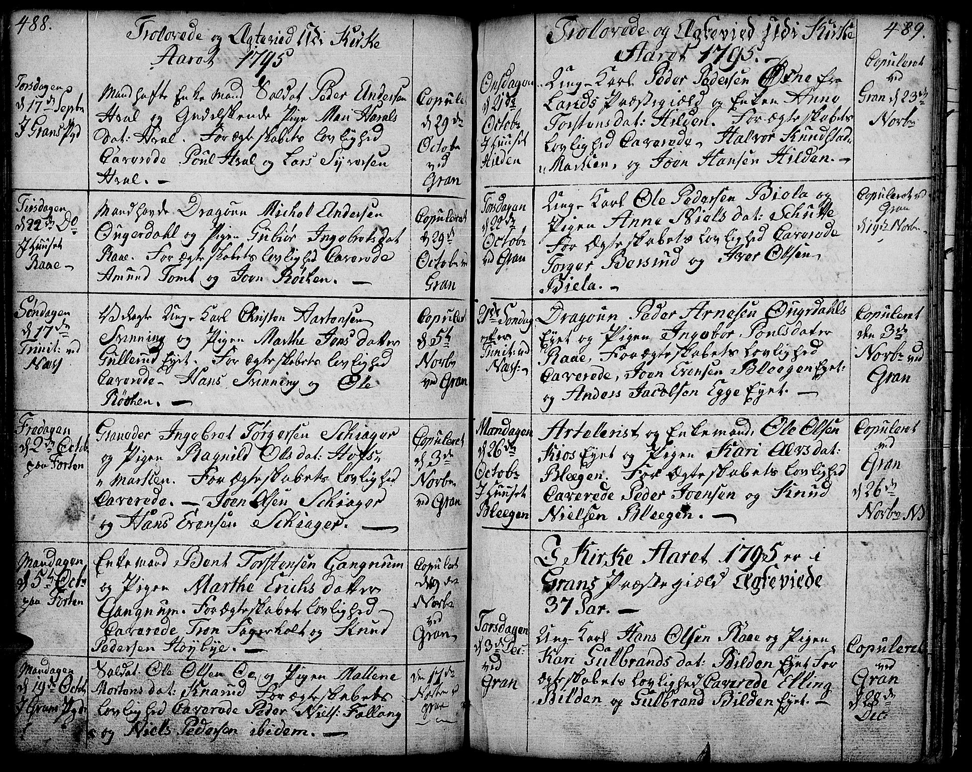 SAH, Gran prestekontor, Ministerialbok nr. 6, 1787-1824, s. 488-489