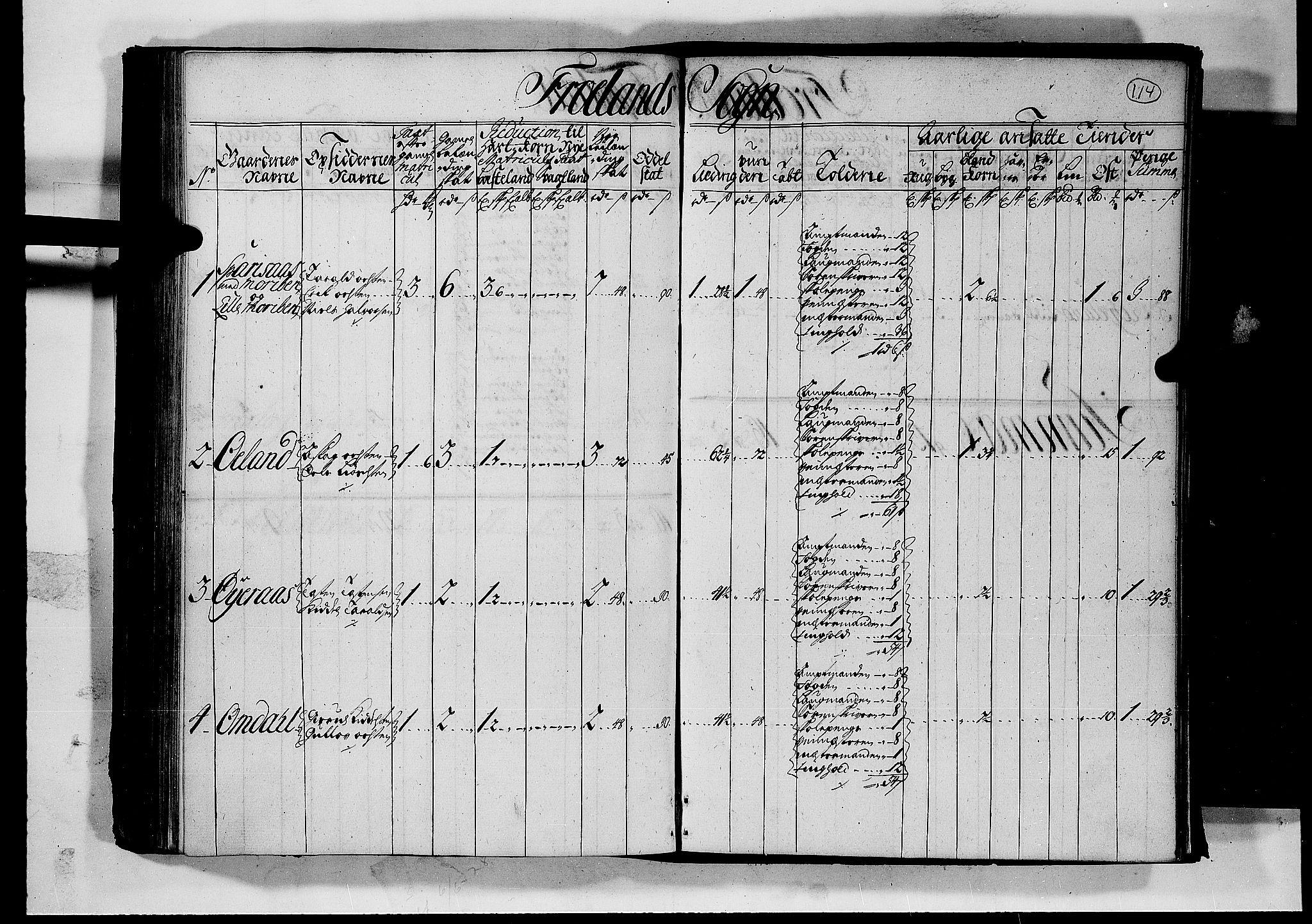 RA, Rentekammeret inntil 1814, Realistisk ordnet avdeling, N/Nb/Nbf/L0126: Råbyggelag matrikkelprotokoll, 1723, s. 113b-114a