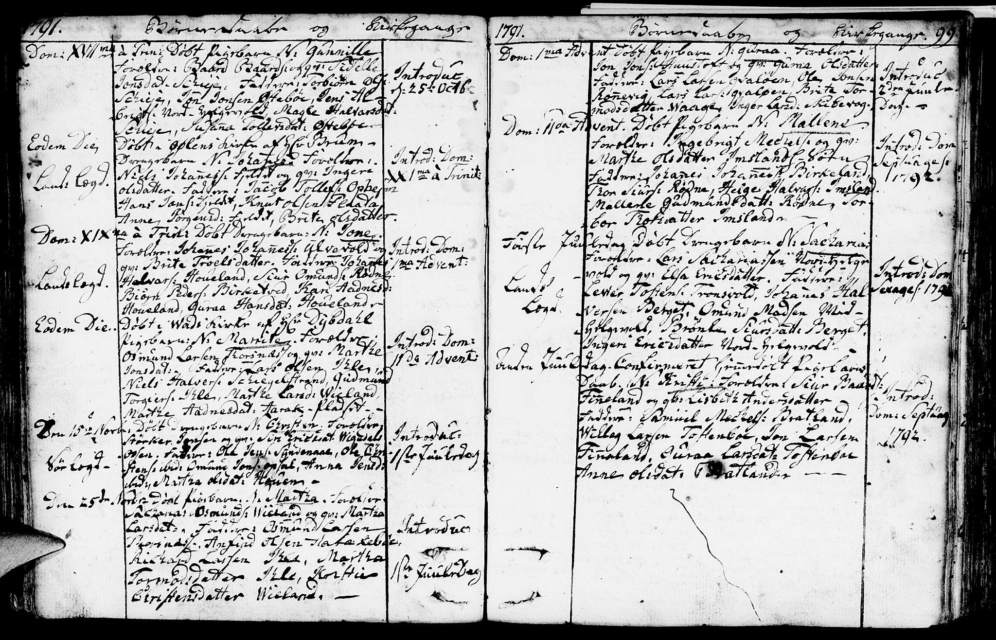 SAST, Vikedal sokneprestkontor, IV: Ministerialbok nr. A 2, 1779-1817, s. 99