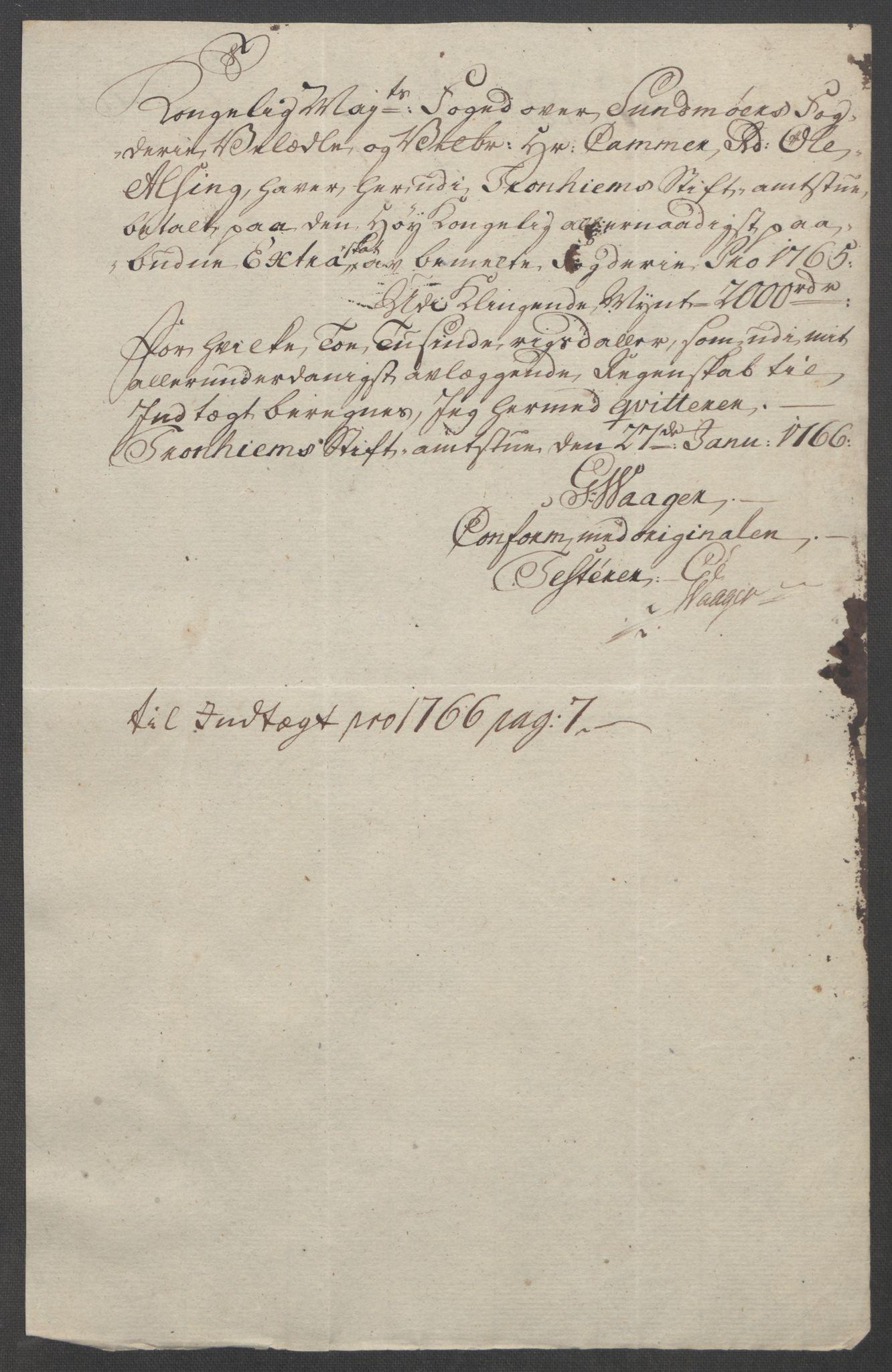 RA, Rentekammeret inntil 1814, Reviderte regnskaper, Fogderegnskap, R54/L3645: Ekstraskatten Sunnmøre, 1762-1772, s. 74