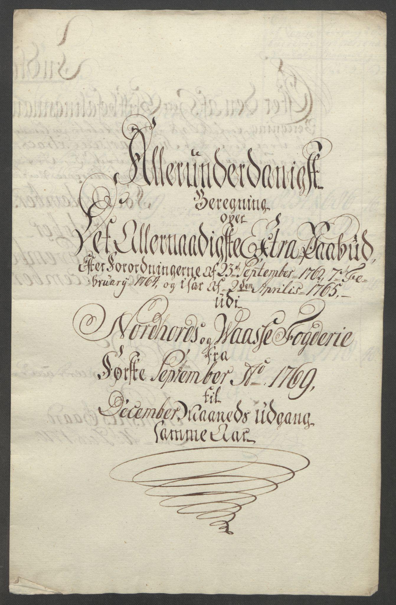 RA, Rentekammeret inntil 1814, Reviderte regnskaper, Fogderegnskap, R51/L3303: Ekstraskatten Nordhordland og Voss, 1762-1772, s. 355