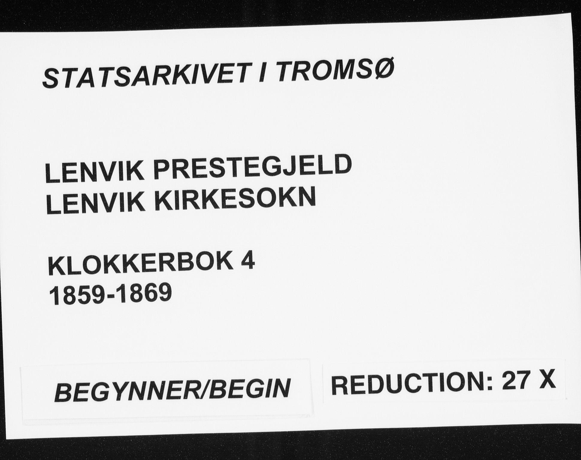 SATØ, Lenvik sokneprestembete, H/Ha: Klokkerbok nr. 4, 1859-1869