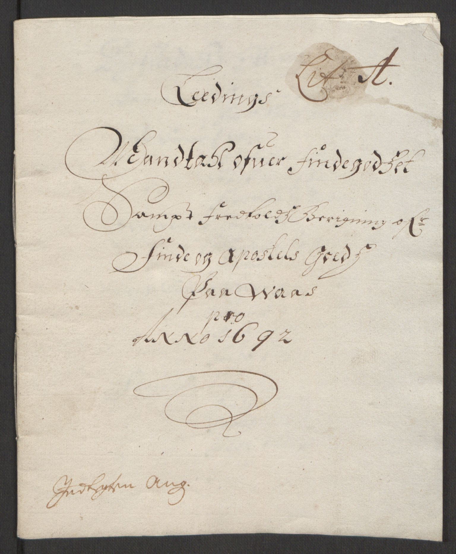 RA, Rentekammeret inntil 1814, Reviderte regnskaper, Fogderegnskap, R51/L3181: Fogderegnskap Nordhordland og Voss, 1691-1692, s. 204