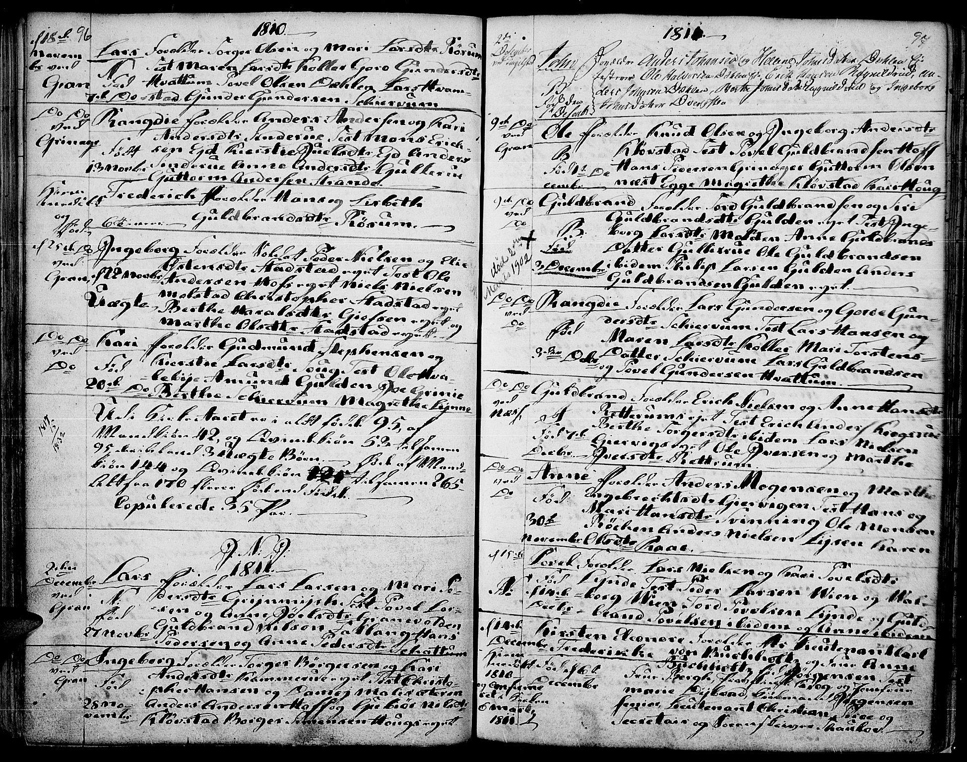 SAH, Gran prestekontor, Ministerialbok nr. 7, 1804-1815, s. 96-97