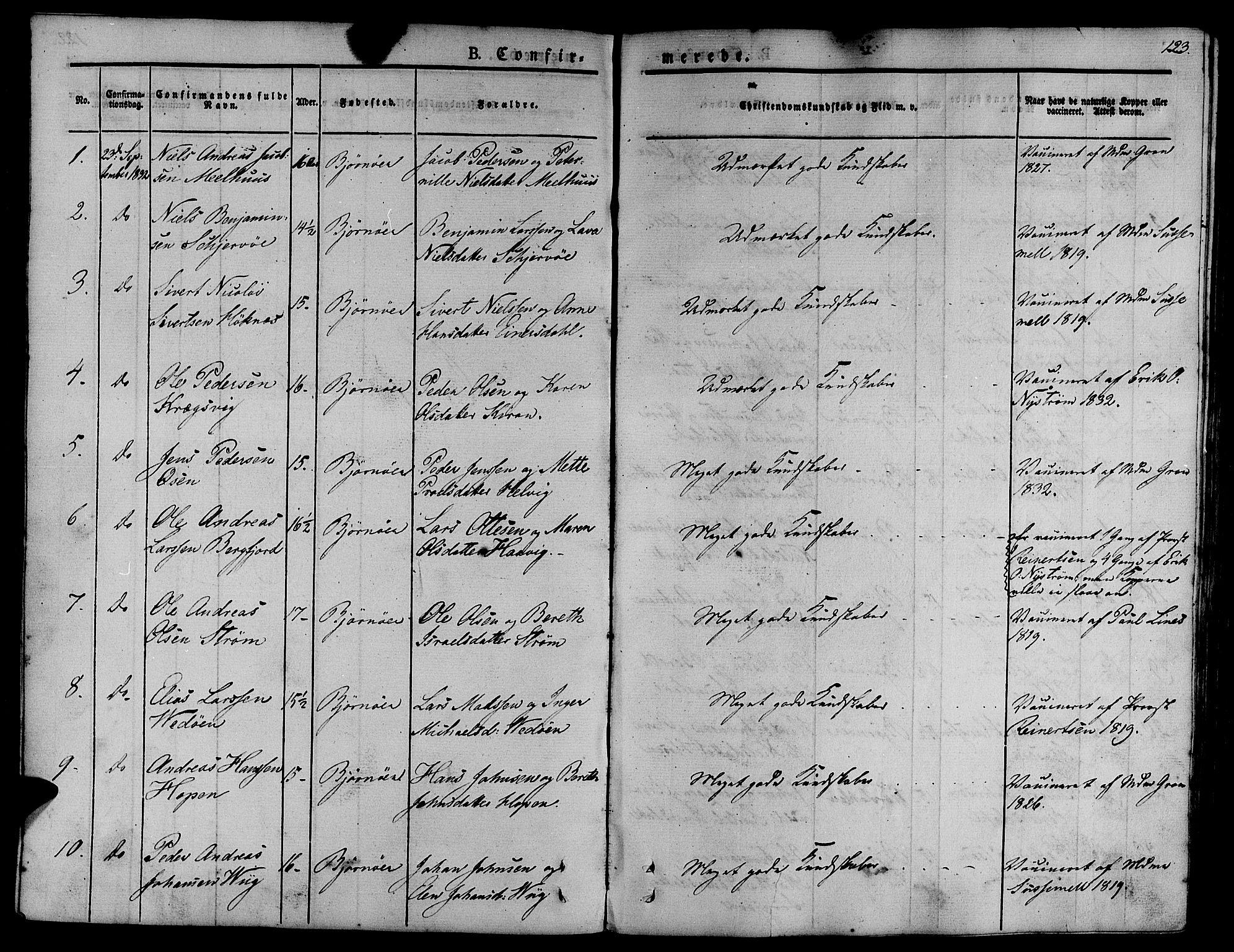 SAT, Ministerialprotokoller, klokkerbøker og fødselsregistre - Sør-Trøndelag, 657/L0703: Ministerialbok nr. 657A04, 1831-1846, s. 123
