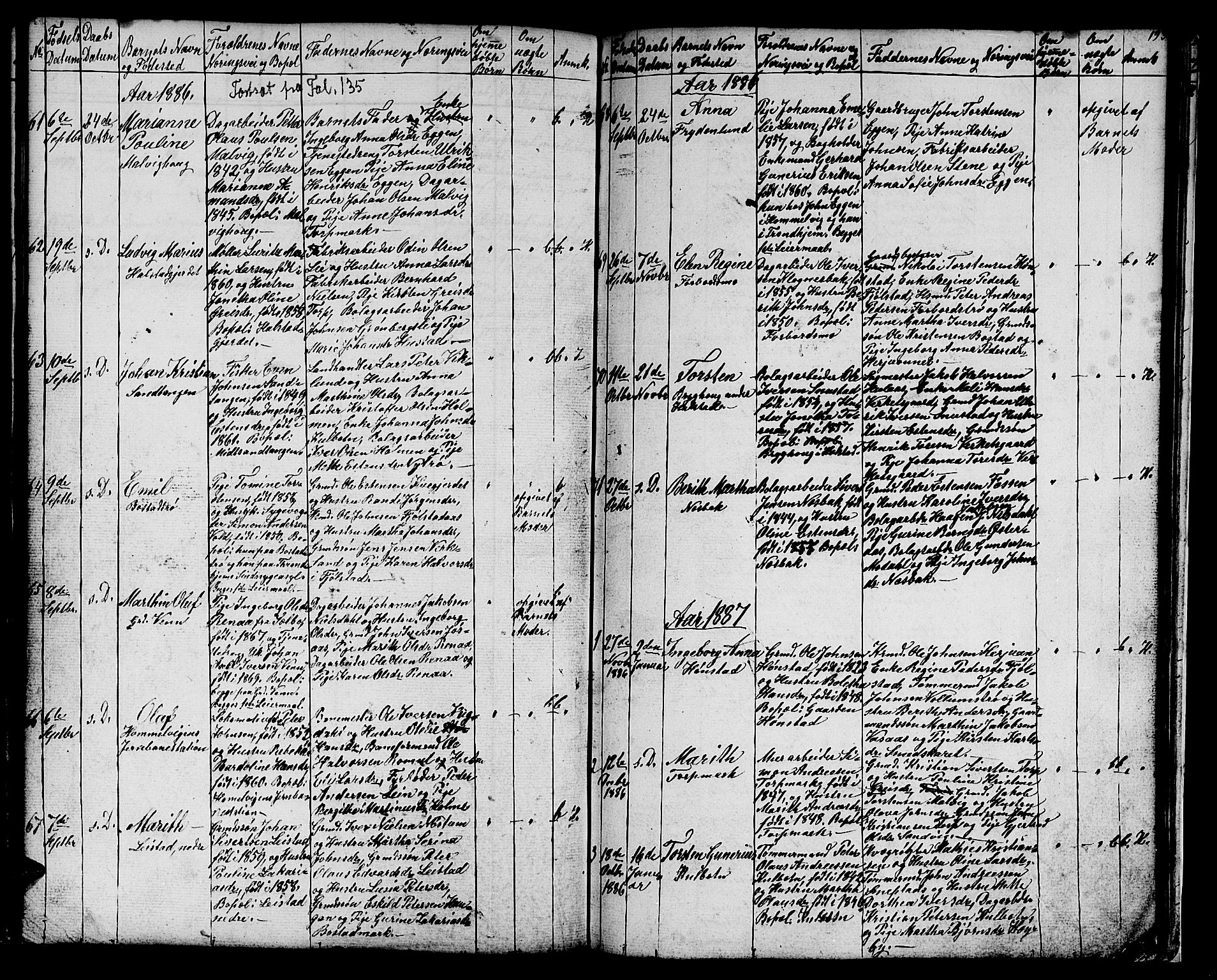 SAT, Ministerialprotokoller, klokkerbøker og fødselsregistre - Sør-Trøndelag, 616/L0422: Klokkerbok nr. 616C05, 1850-1888, s. 193