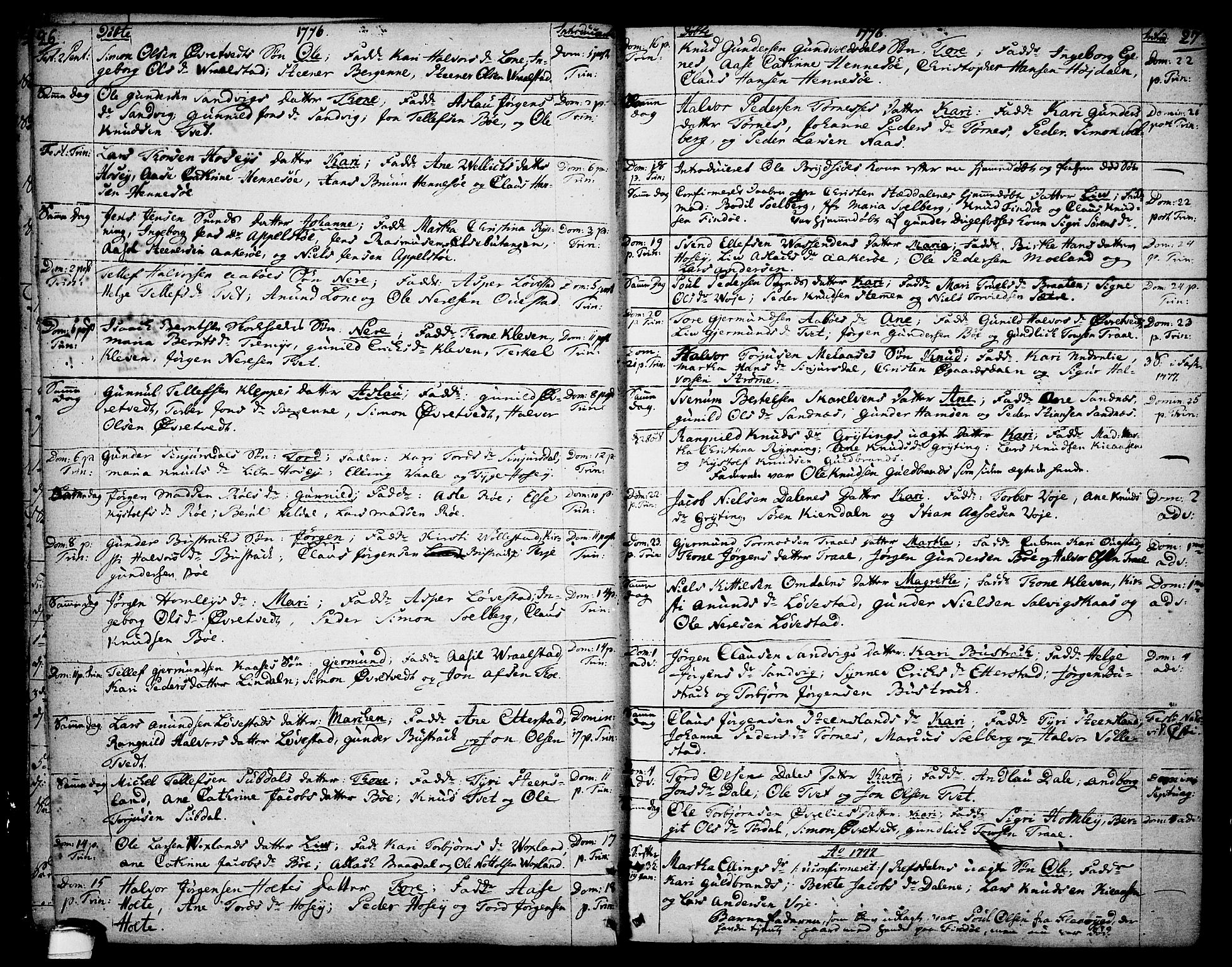 SAKO, Drangedal kirkebøker, F/Fa/L0003: Ministerialbok nr. 3, 1768-1814, s. 26-27