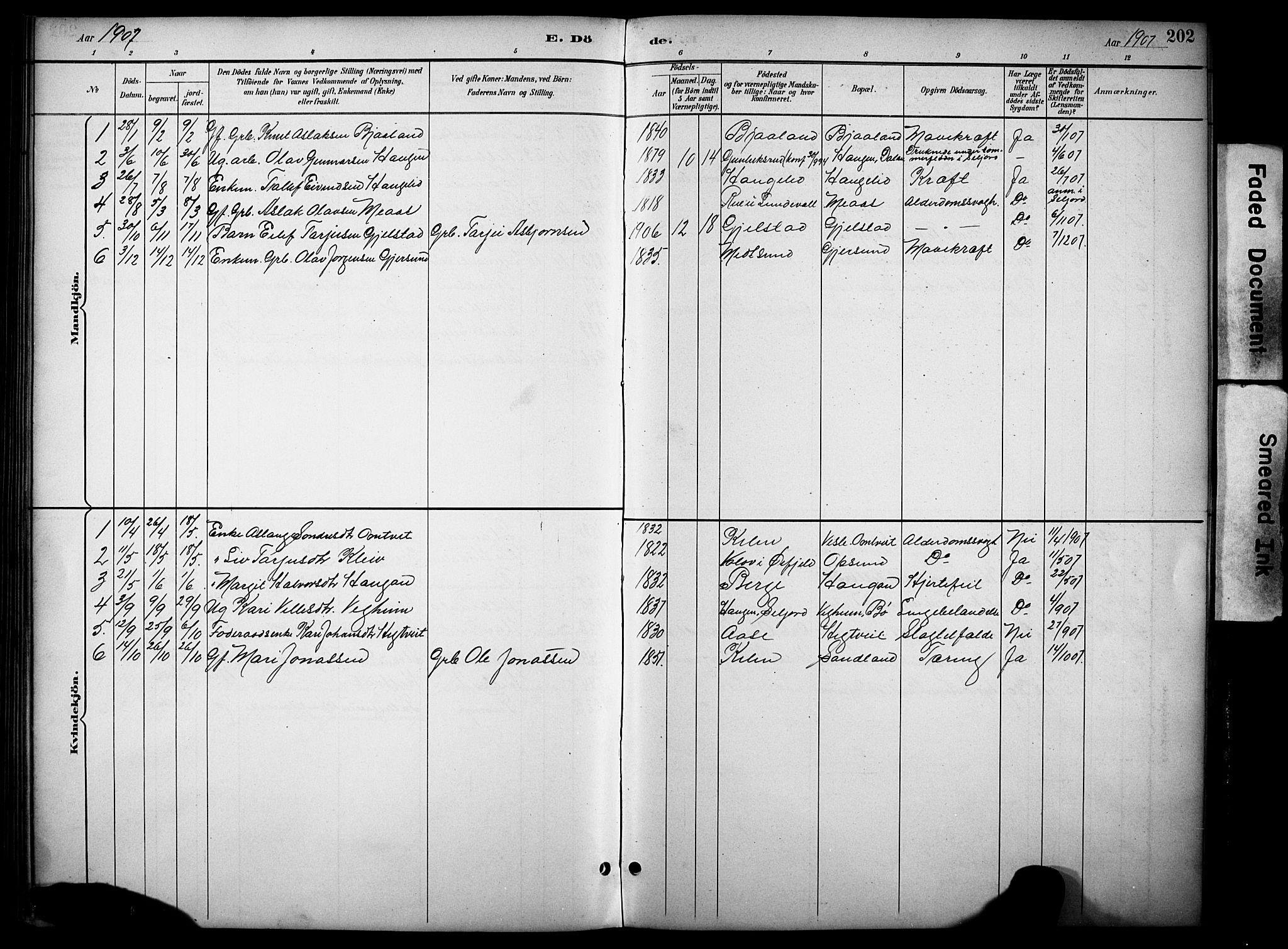 SAKO, Kviteseid kirkebøker, G/Gb/L0003: Klokkerbok nr. II 3, 1893-1933, s. 202