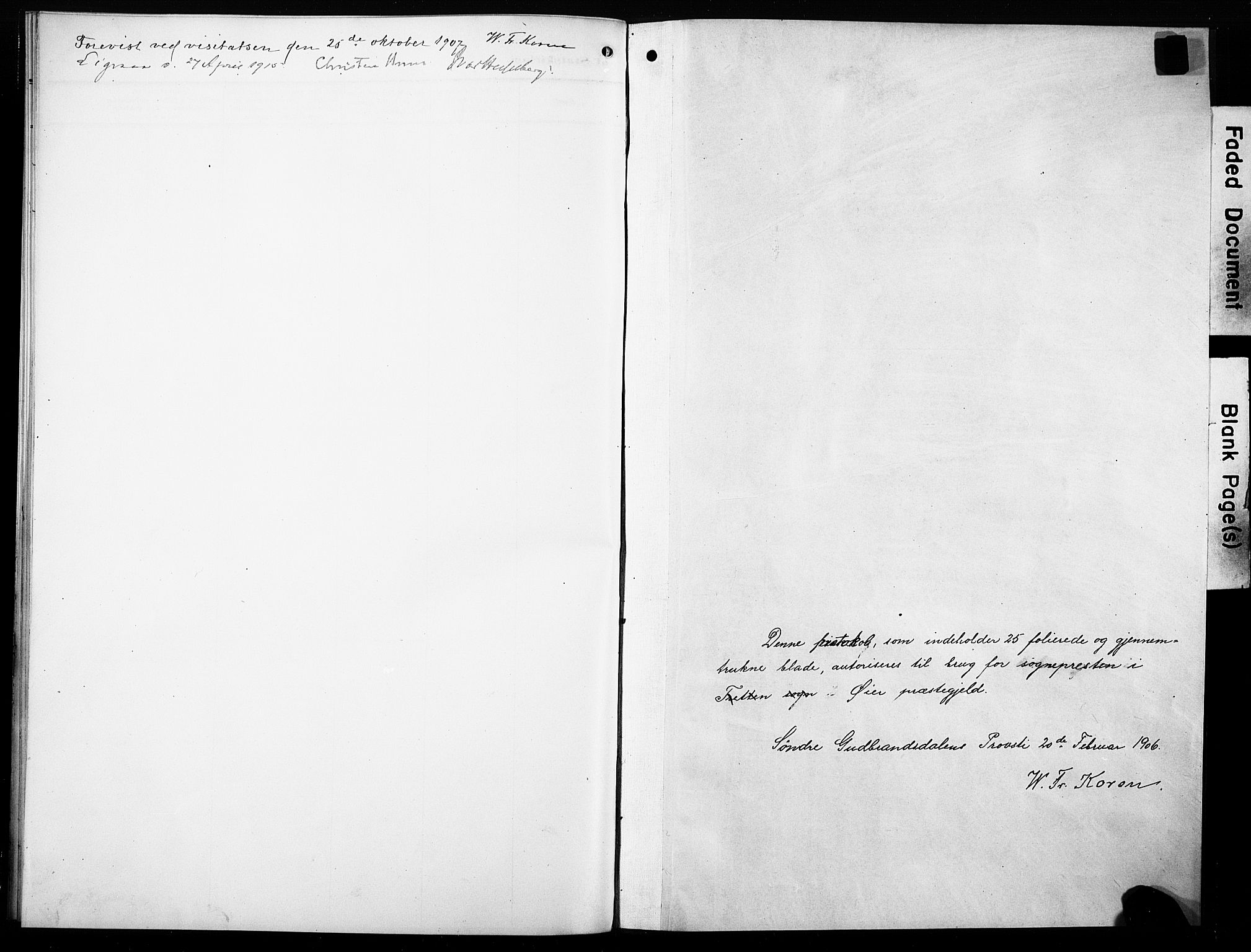 SAH, Øyer prestekontor, Ministerialbok nr. 10, 1906-1919