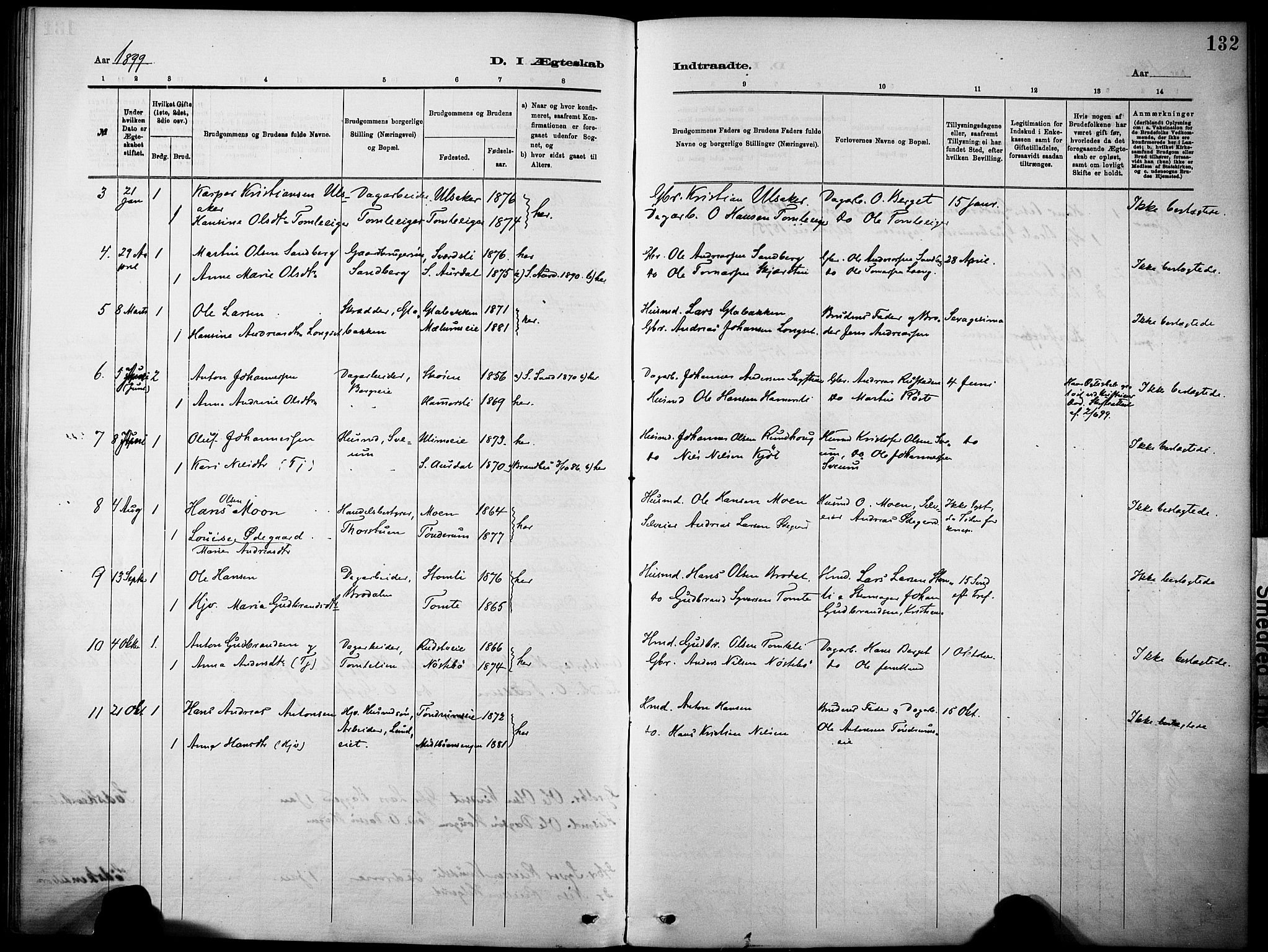 SAH, Nordre Land prestekontor, Ministerialbok nr. 5, 1882-1903, s. 132