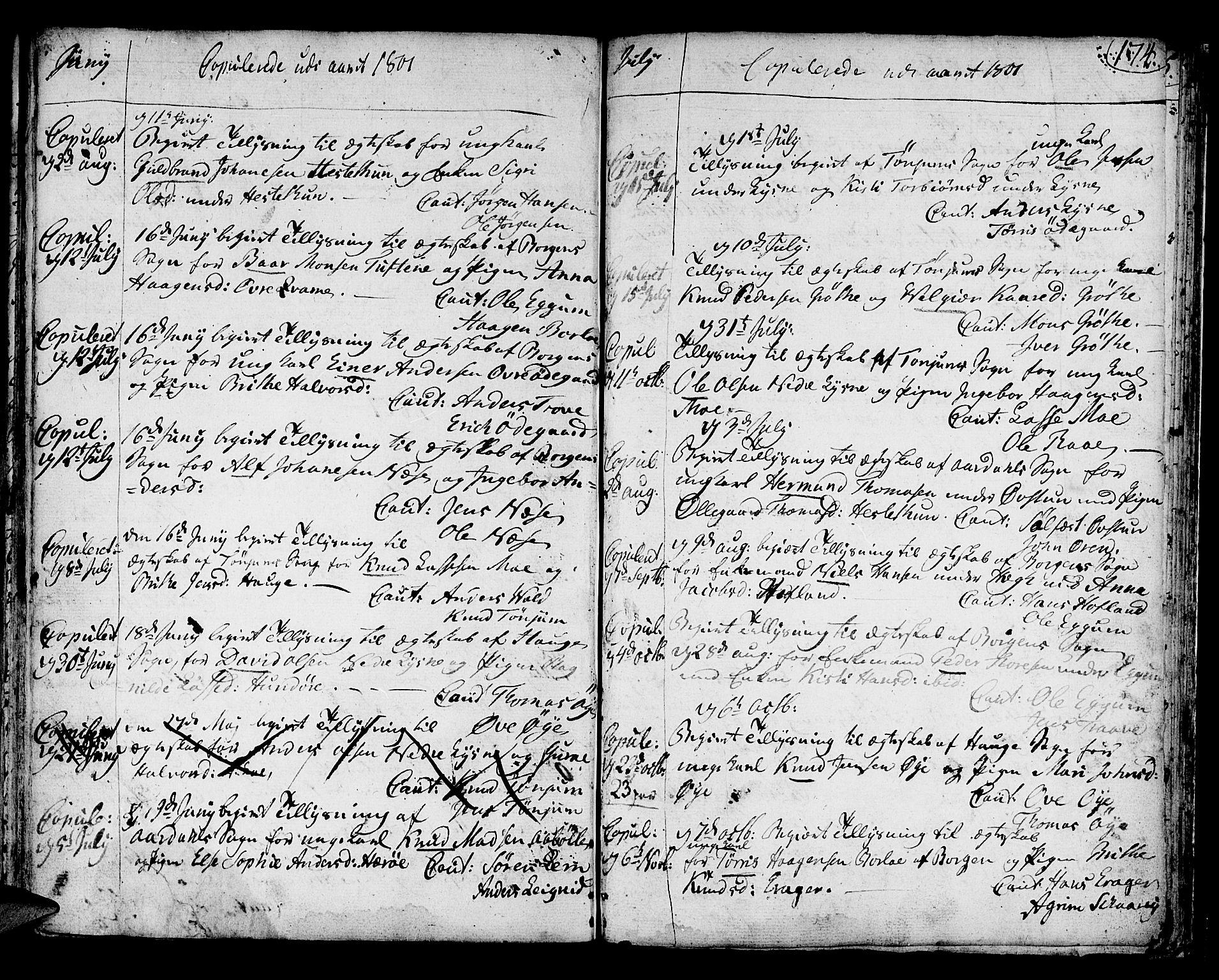 SAB, Lærdal sokneprestembete, Ministerialbok nr. A 3, 1783-1804, s. 174