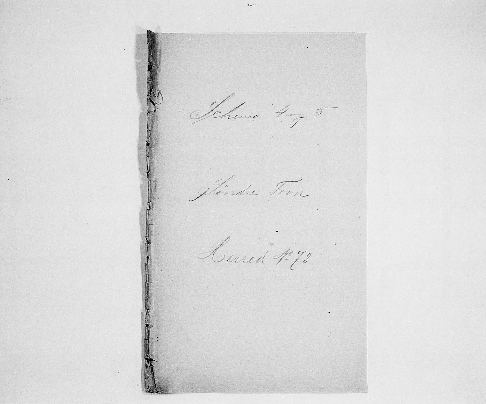 SAH, Folketelling 1900 for 0519 Sør-Fron herred, 1900, s. 1