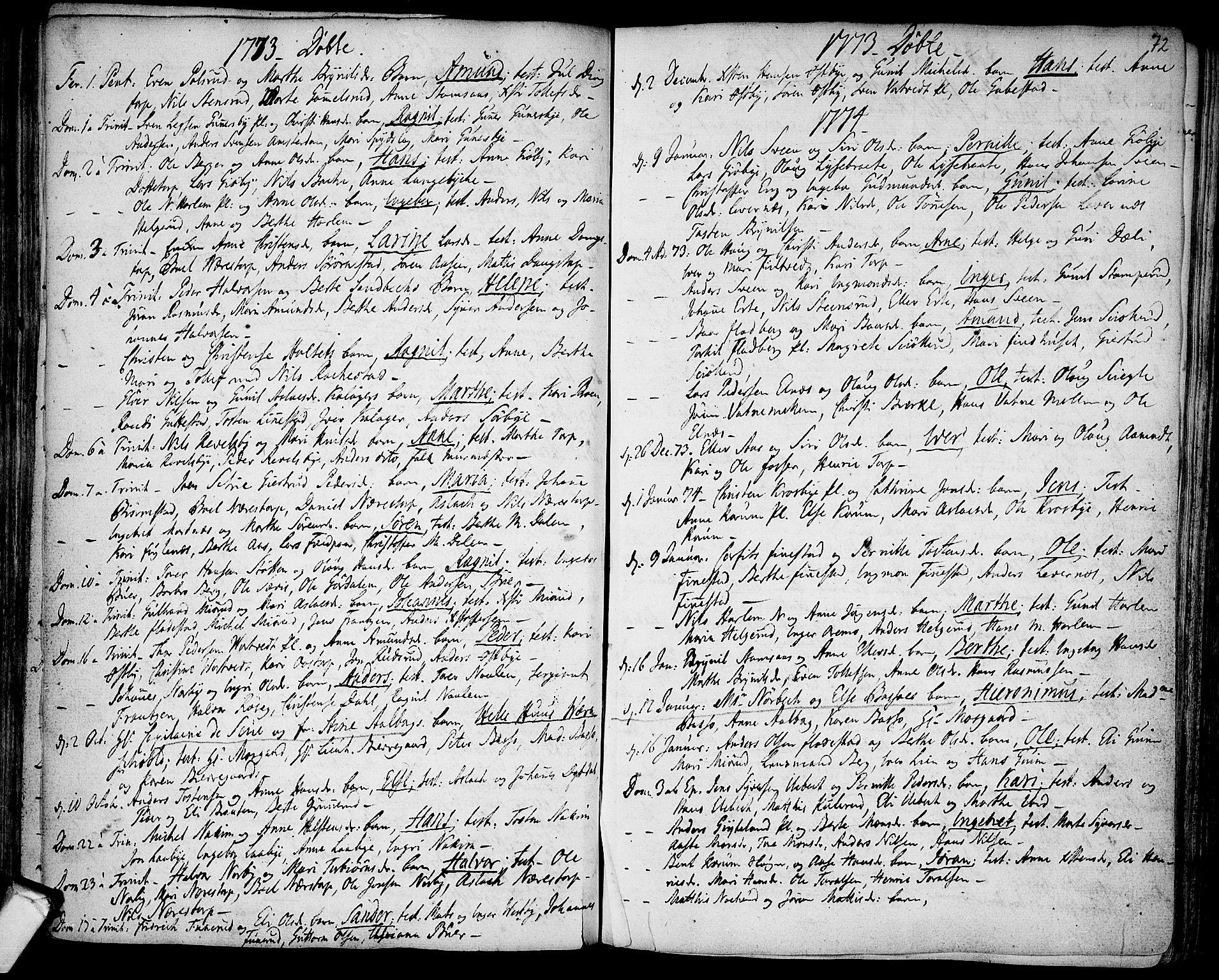 SAO, Rakkestad prestekontor Kirkebøker, F/Fa/L0003: Ministerialbok nr. I 3, 1752-1777, s. 72