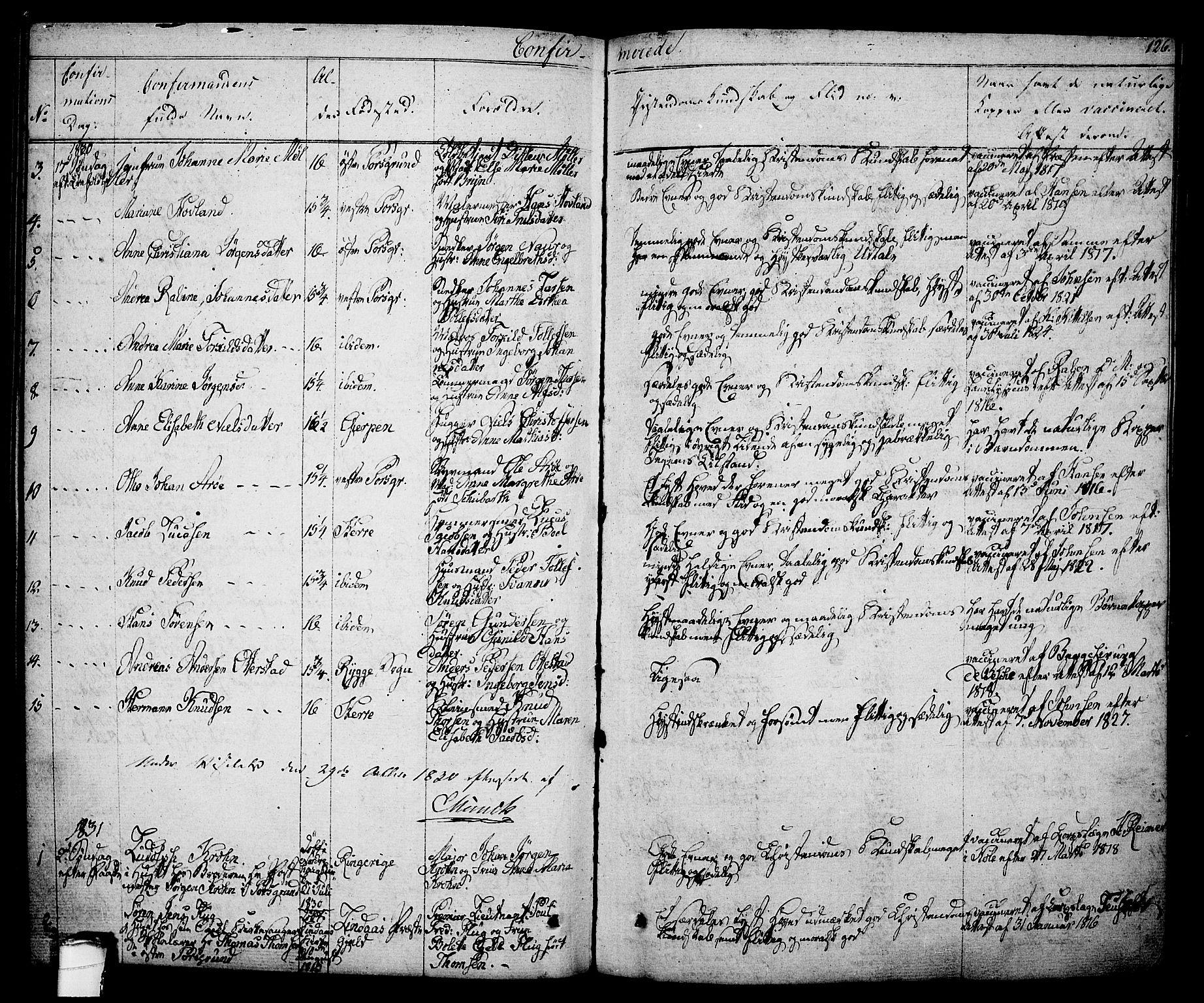 SAKO, Porsgrunn kirkebøker , F/Fa/L0005: Ministerialbok nr. 5, 1828-1840, s. 126