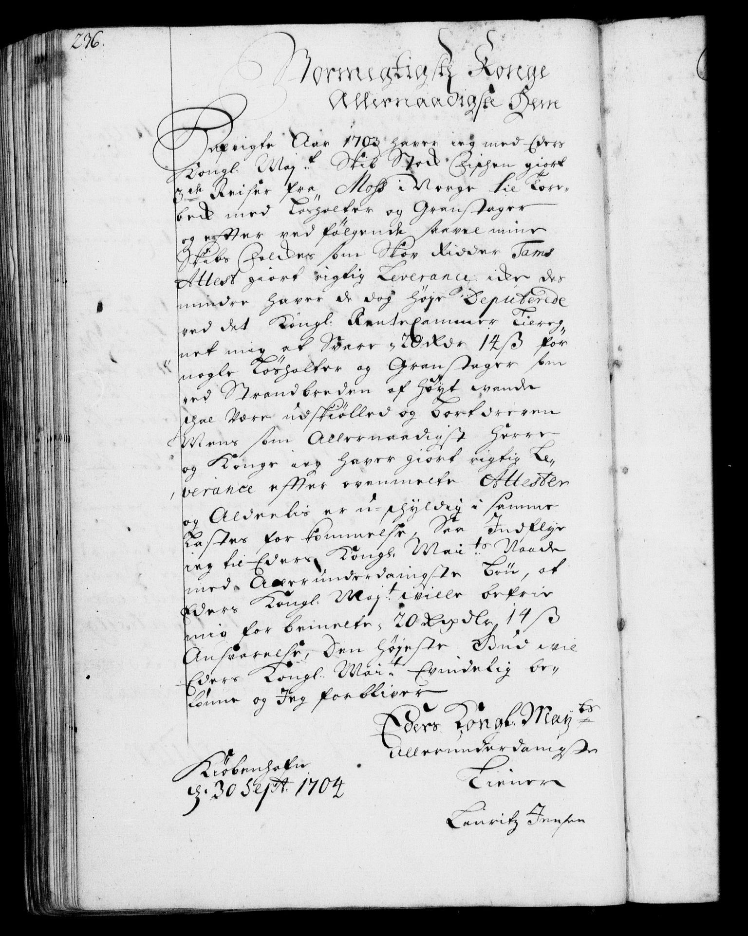RA, Rentekammeret, Kammerkanselliet, G/Gf/Gfa/L0001: Resolusjonsprotokoll med register (merket RK 52.1), 1695-1706, s. 236
