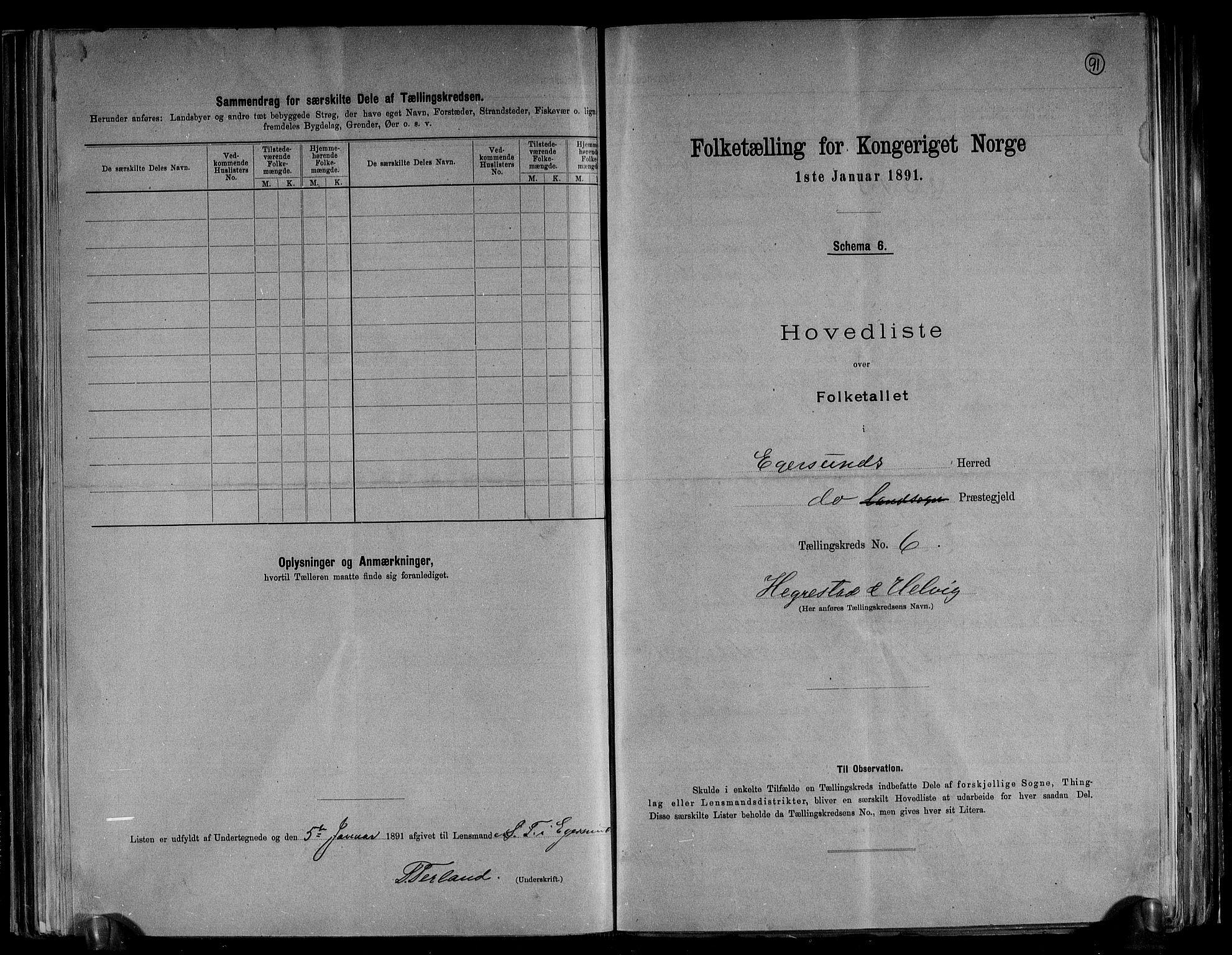 RA, Folketelling 1891 for 1116 Eigersund herred, 1891, s. 14
