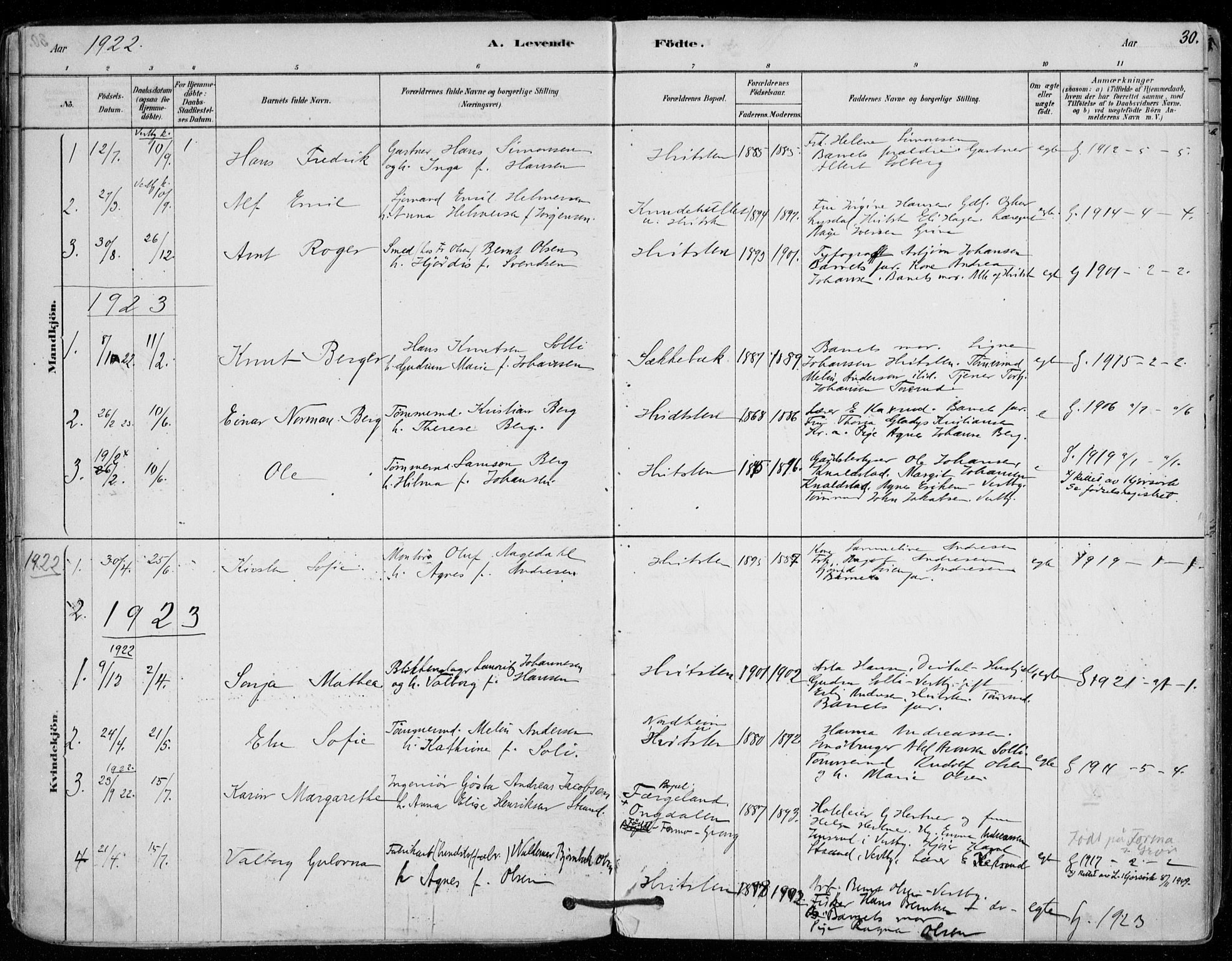 SAO, Vestby prestekontor Kirkebøker, F/Fd/L0001: Ministerialbok nr. IV 1, 1878-1945, s. 30