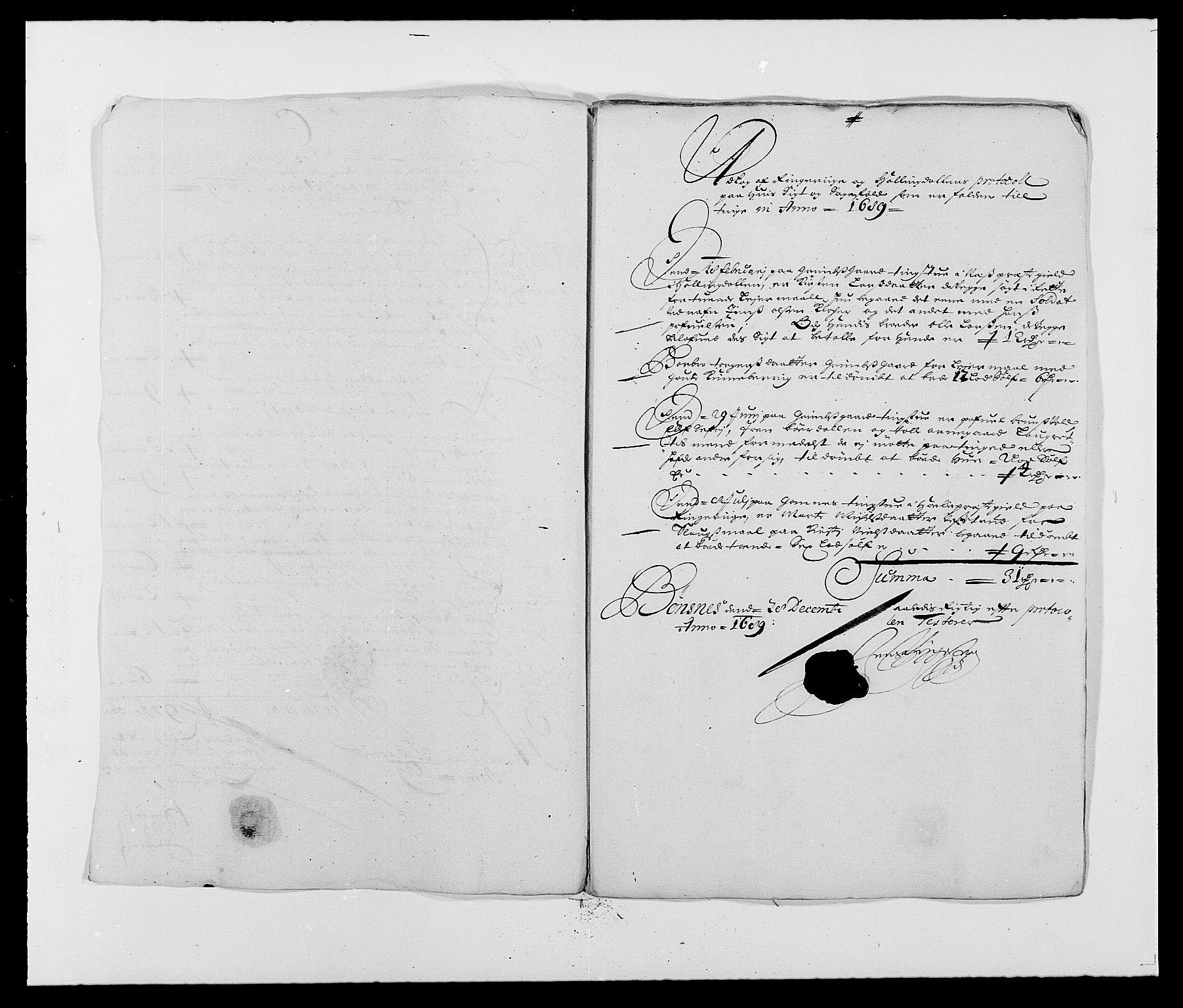 RA, Rentekammeret inntil 1814, Reviderte regnskaper, Fogderegnskap, R21/L1447: Fogderegnskap Ringerike og Hallingdal, 1687-1689, s. 301