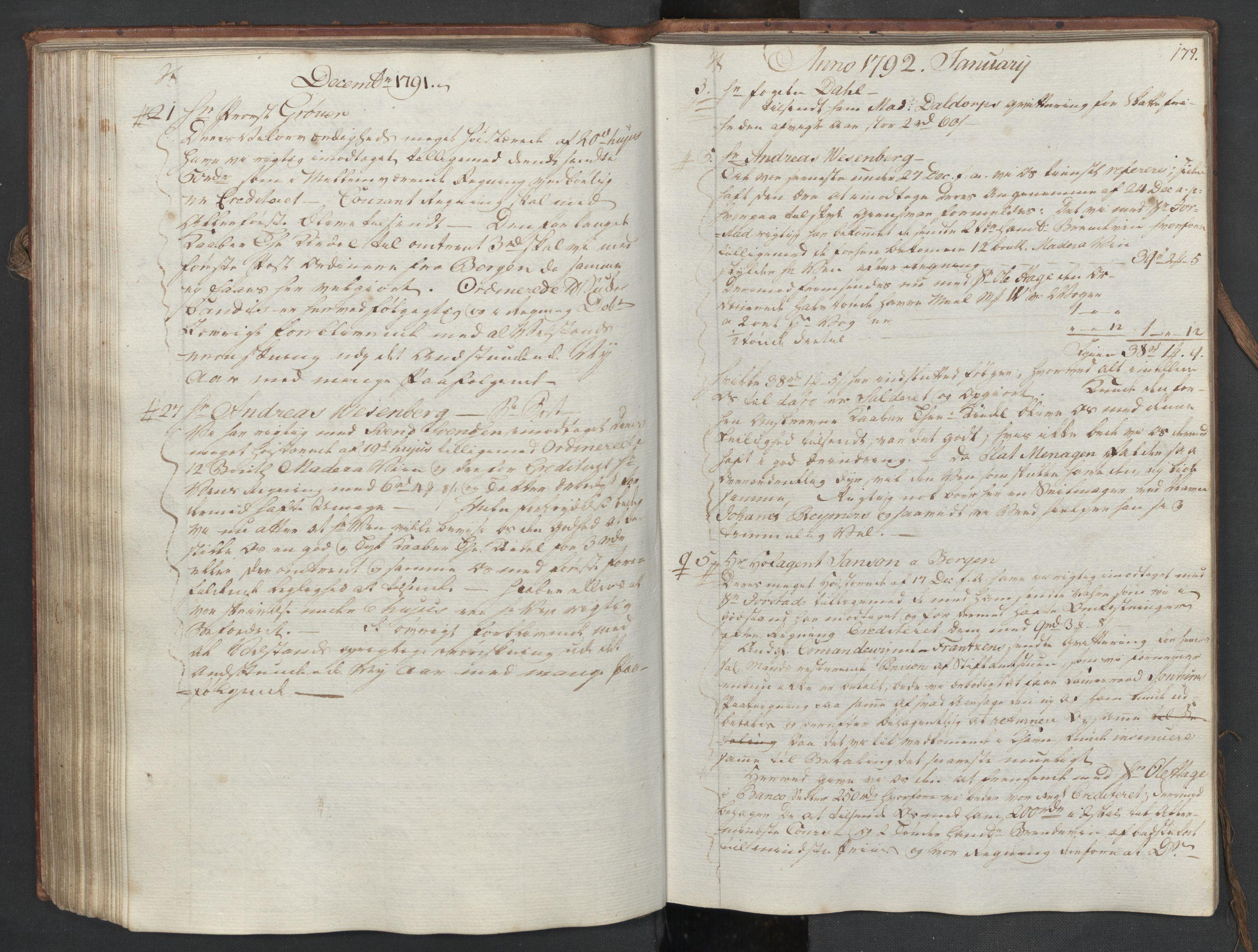SAST, Pa 0003 - Ploug & Sundt, handelshuset, B/L0006: Kopibok, 1788-1793, s. 178b-179a