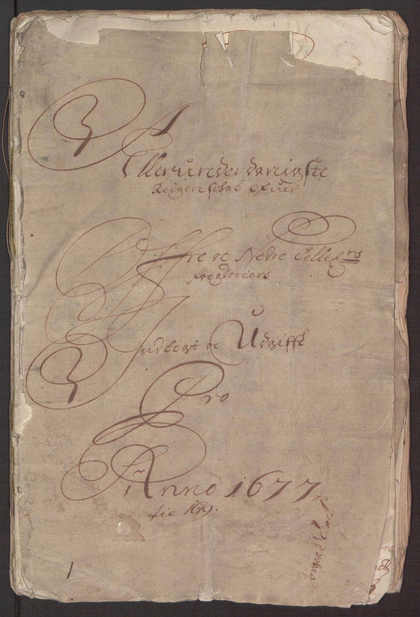 RA, Rentekammeret inntil 1814, Reviderte regnskaper, Fogderegnskap, R35/L2068: Fogderegnskap Øvre og Nedre Telemark, 1677, s. 3