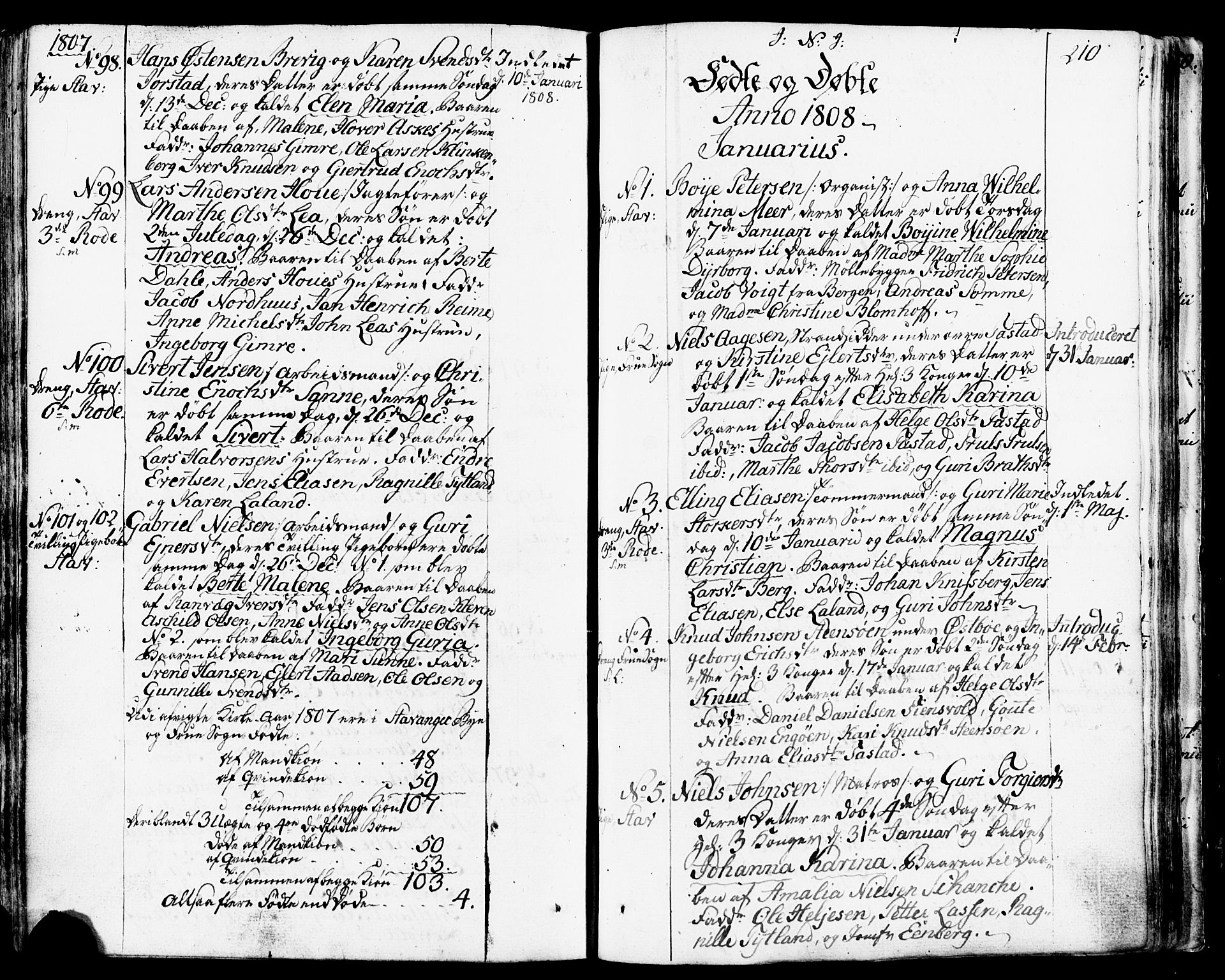 SAST, Domkirken sokneprestkontor, 30/30BB/L0007: Klokkerbok nr. B 7, 1791-1813, s. 210