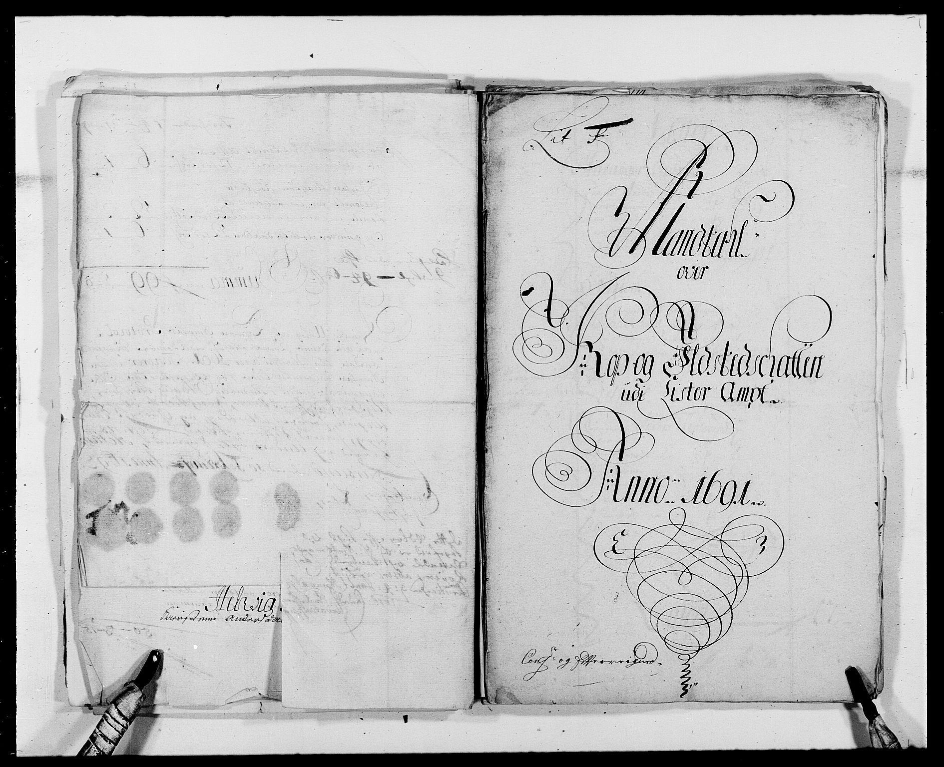 RA, Rentekammeret inntil 1814, Reviderte regnskaper, Fogderegnskap, R41/L2536: Fogderegnskap Lista, 1690-1693, s. 145