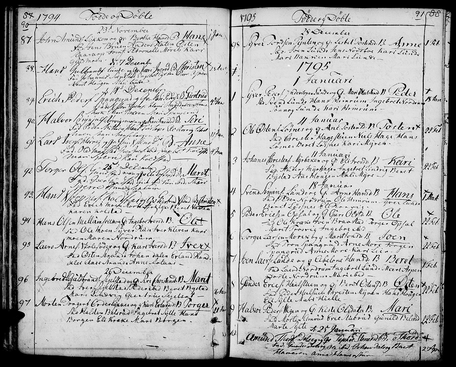 SAH, Ringebu prestekontor, Ministerialbok nr. 3, 1781-1820, s. 90-91