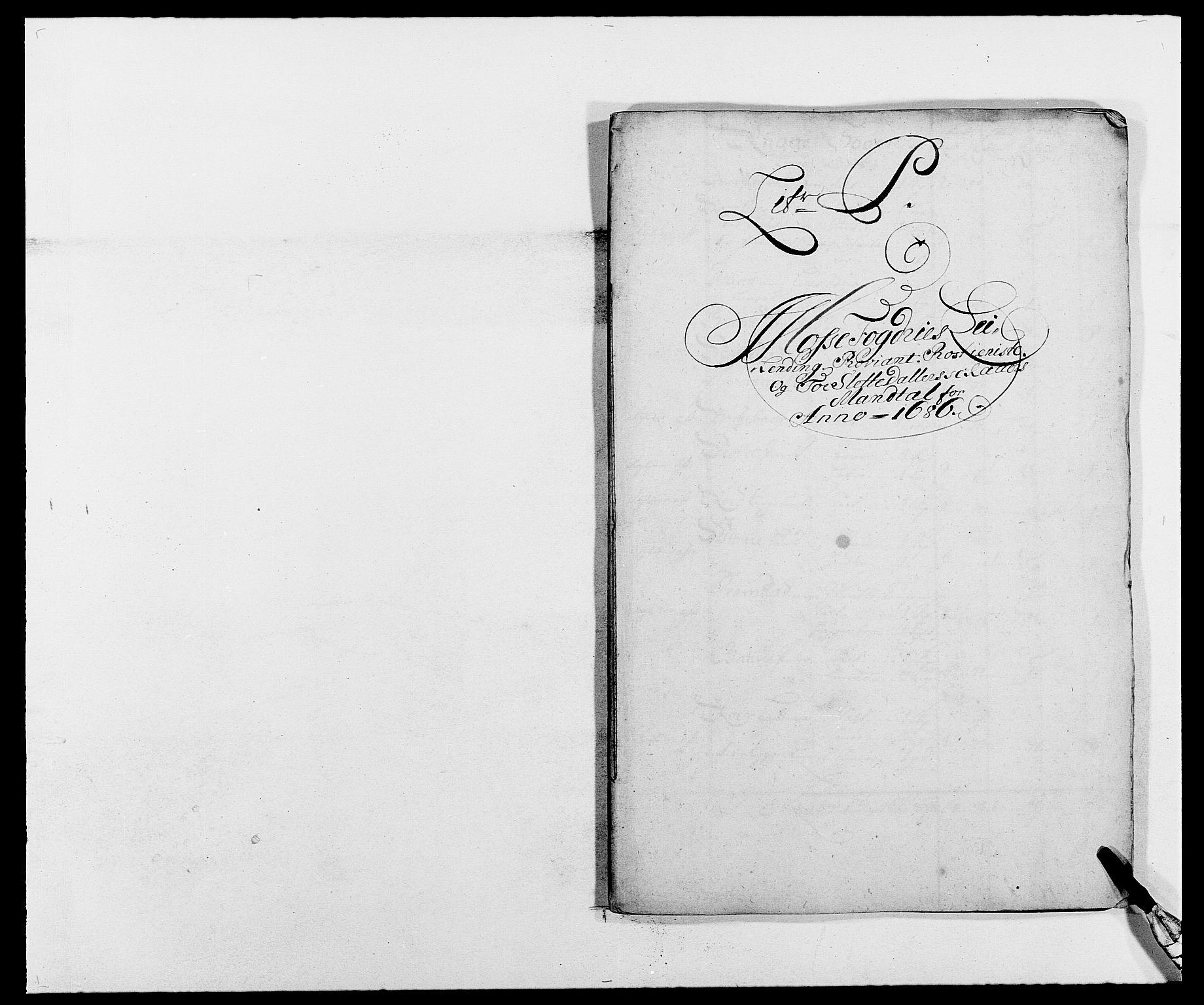 RA, Rentekammeret inntil 1814, Reviderte regnskaper, Fogderegnskap, R02/L0105: Fogderegnskap Moss og Verne kloster, 1685-1687, s. 180