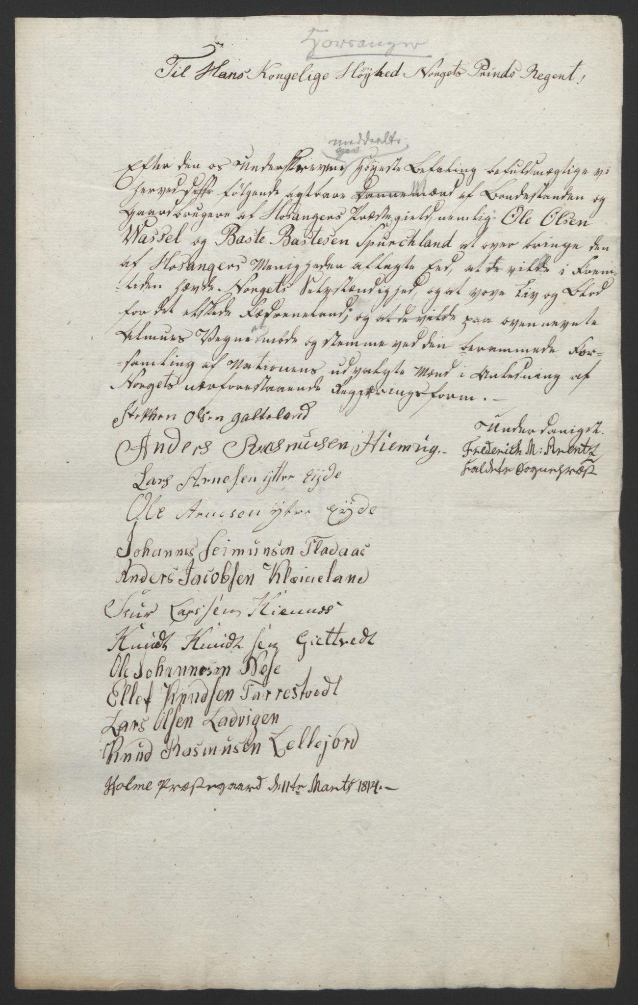 RA, Statsrådssekretariatet, D/Db/L0008: Fullmakter for Eidsvollsrepresentantene i 1814. , 1814, s. 283