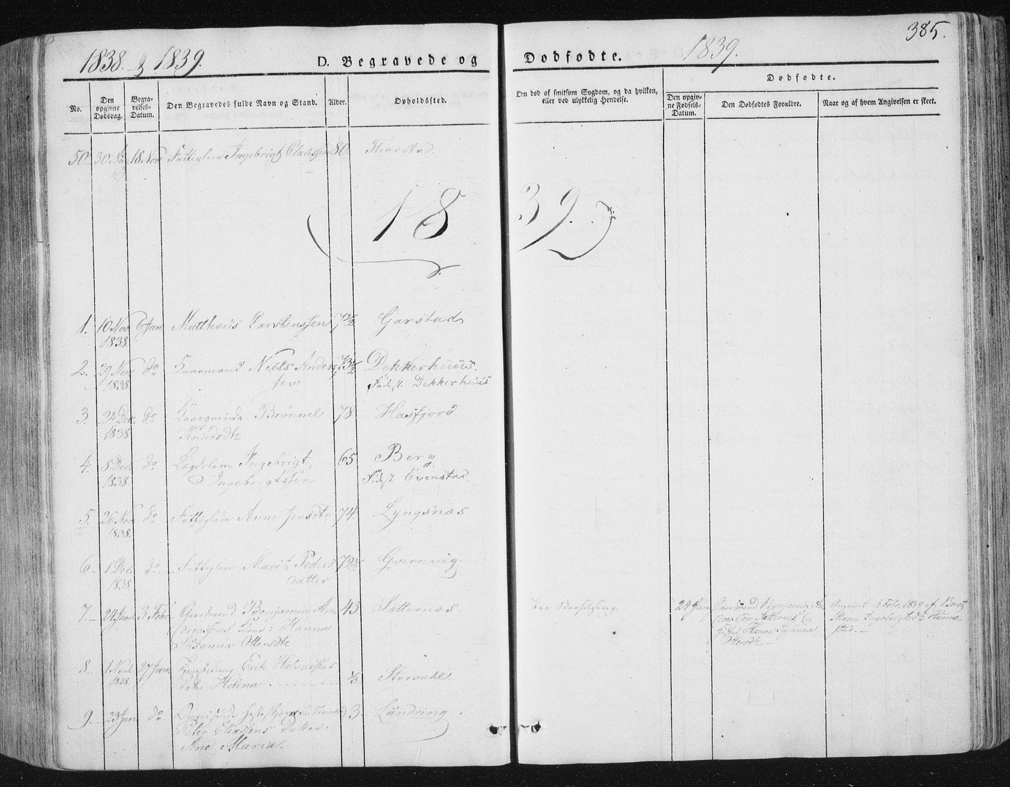 SAT, Ministerialprotokoller, klokkerbøker og fødselsregistre - Nord-Trøndelag, 784/L0669: Ministerialbok nr. 784A04, 1829-1859, s. 385