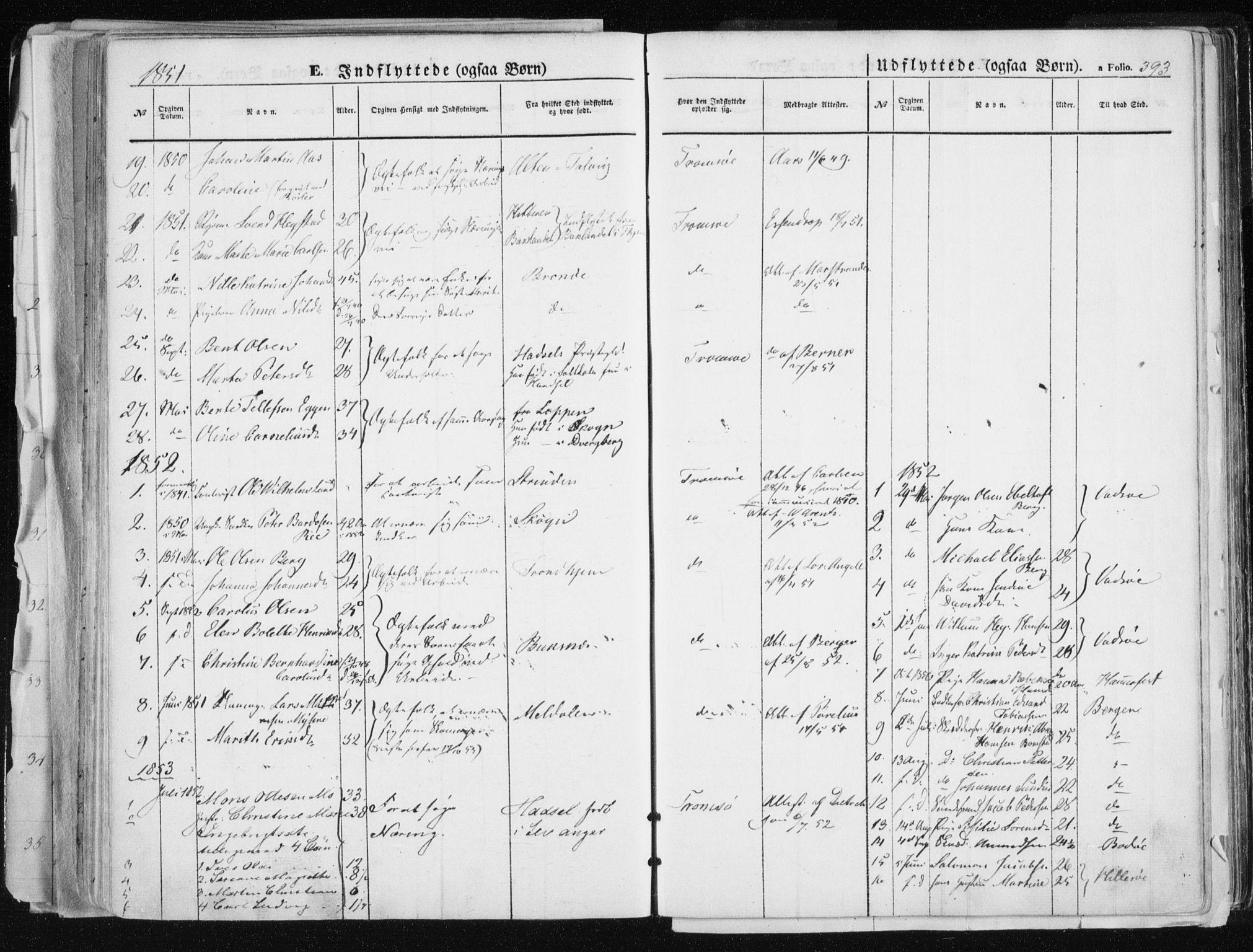 SATØ, Tromsø sokneprestkontor/stiftsprosti/domprosti, G/Ga/L0010kirke: Ministerialbok nr. 10, 1848-1855, s. 393