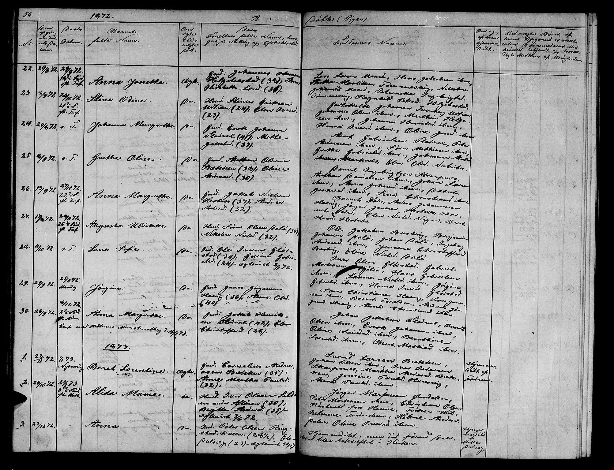 SAT, Ministerialprotokoller, klokkerbøker og fødselsregistre - Sør-Trøndelag, 634/L0539: Klokkerbok nr. 634C01, 1866-1873, s. 56