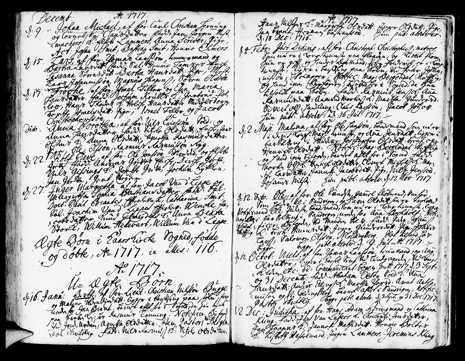 SAB, Korskirken Sokneprestembete, H/Haa/L0003: Ministerialbok nr. A 3, 1698-1719, s. 261
