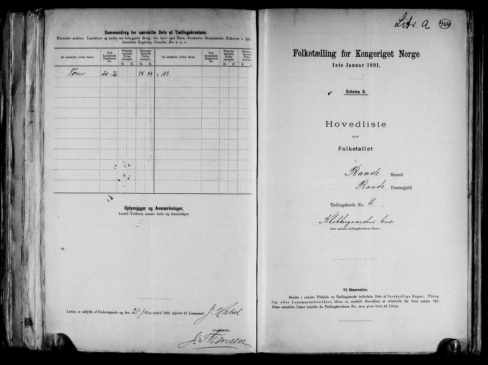 RA, Folketelling 1891 for 0135 Råde herred, 1891, s. 10