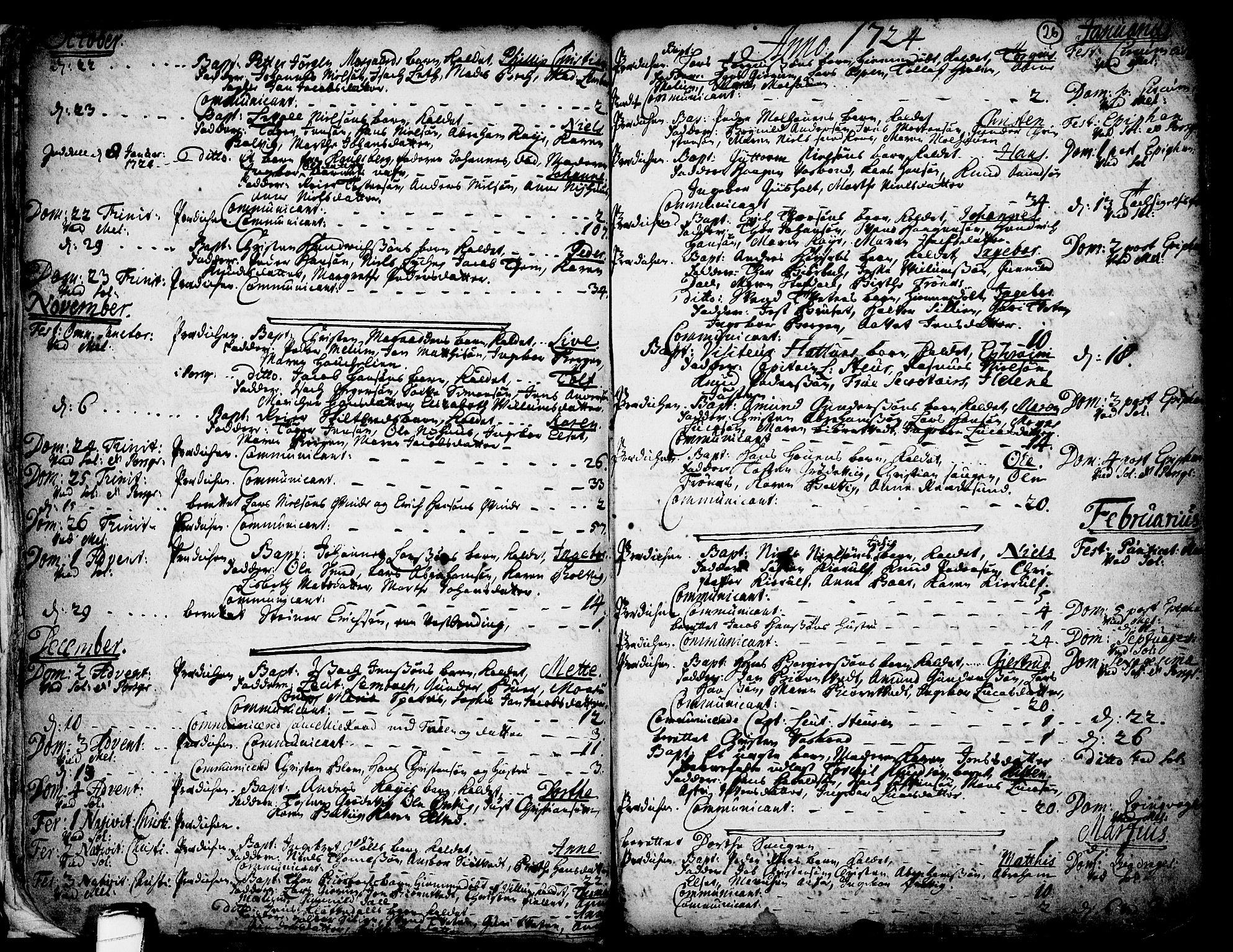SAKO, Solum kirkebøker, F/Fa/L0002: Ministerialbok nr. I 2, 1713-1761, s. 26