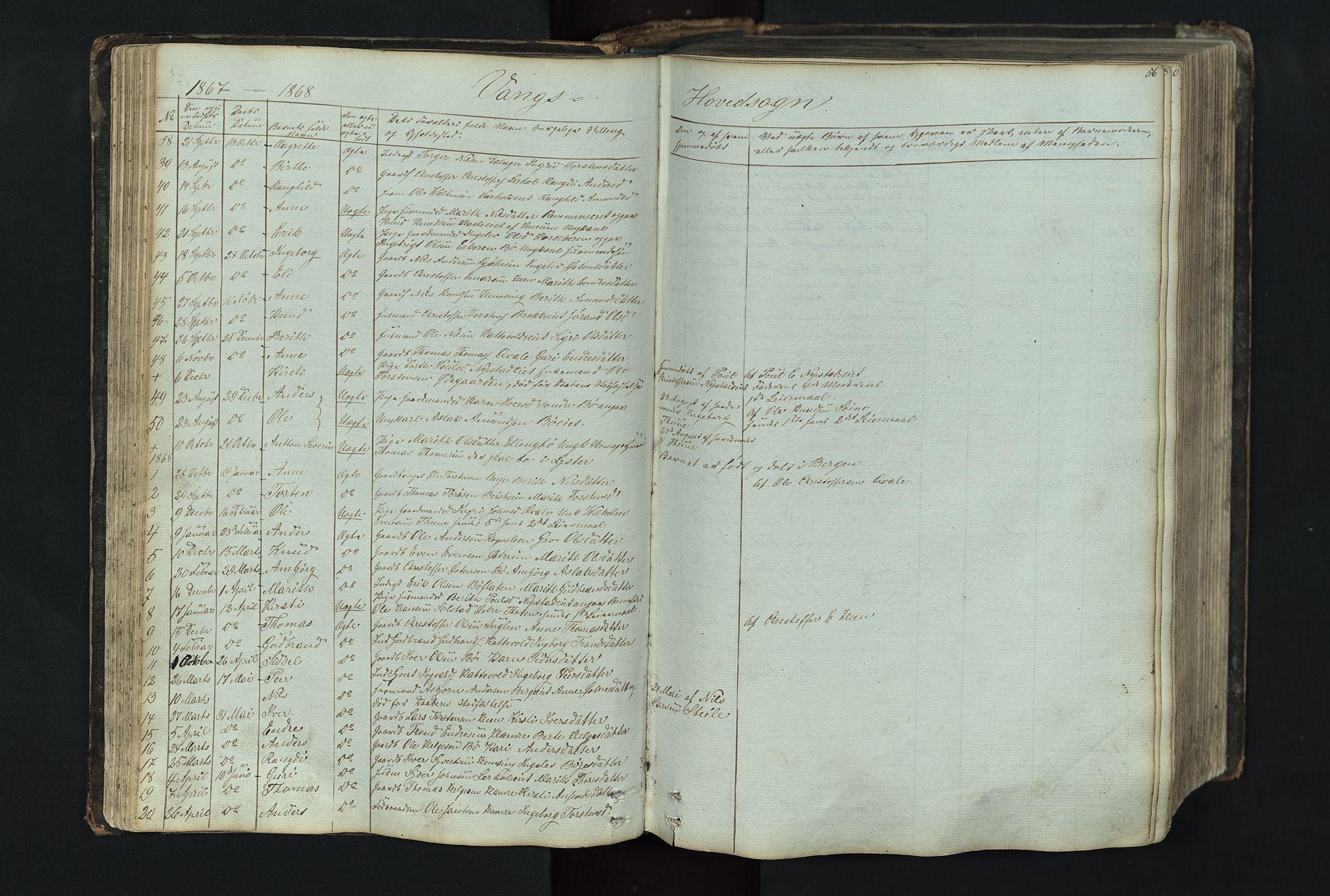 SAH, Vang prestekontor, Valdres, Klokkerbok nr. 4, 1835-1892, s. 56