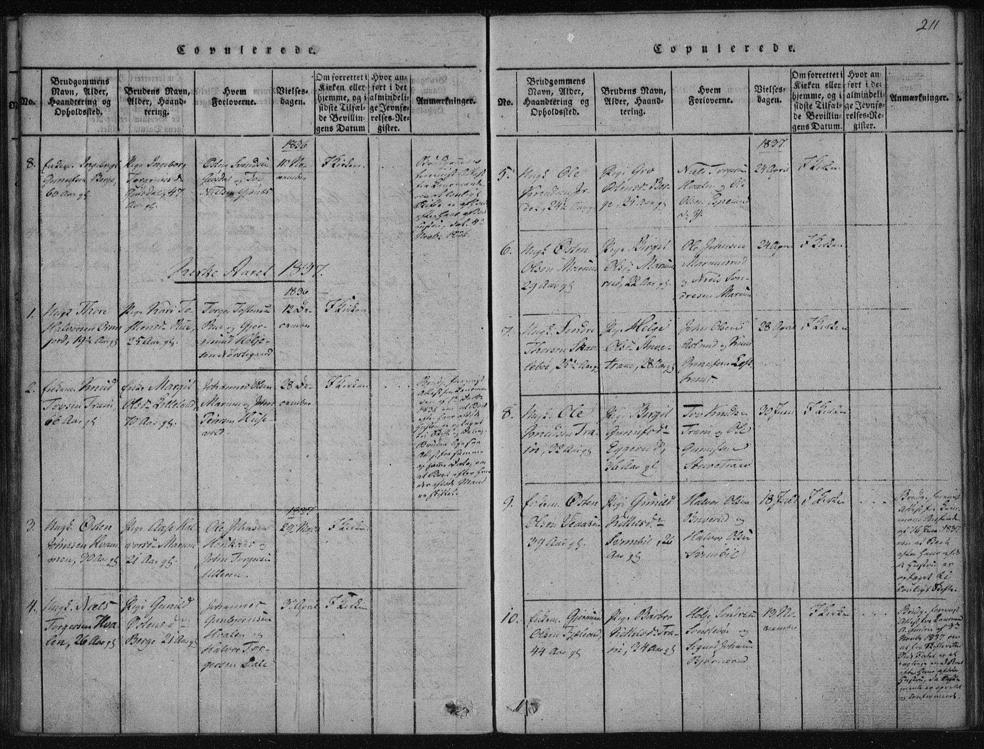 SAKO, Tinn kirkebøker, F/Fa/L0004: Ministerialbok nr. I 4, 1815-1843, s. 211