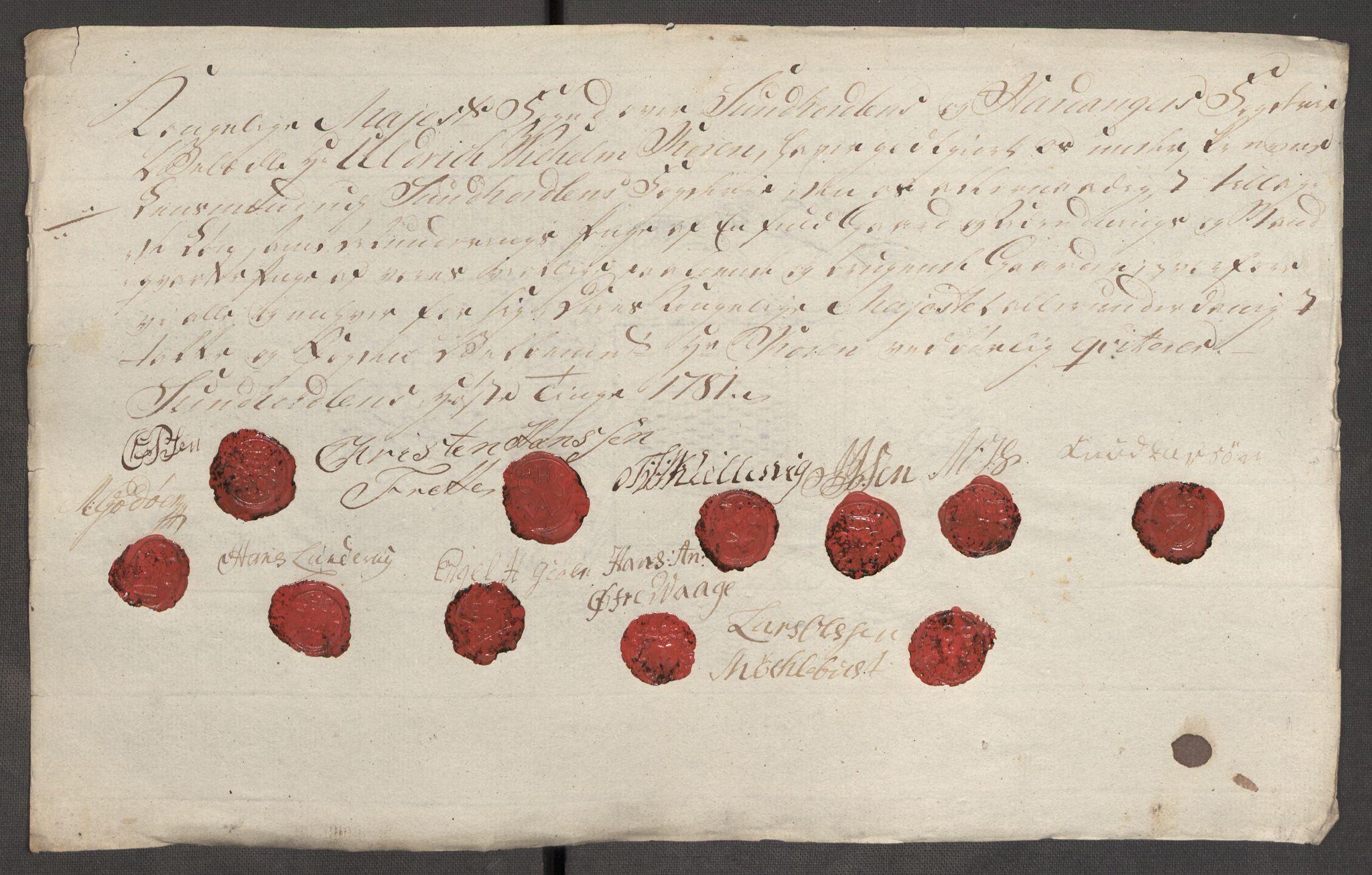 RA, Rentekammeret inntil 1814, Reviderte regnskaper, Fogderegnskap, R48/L3097: Fogderegnskap Sunnhordland og Hardanger, 1781, s. 345